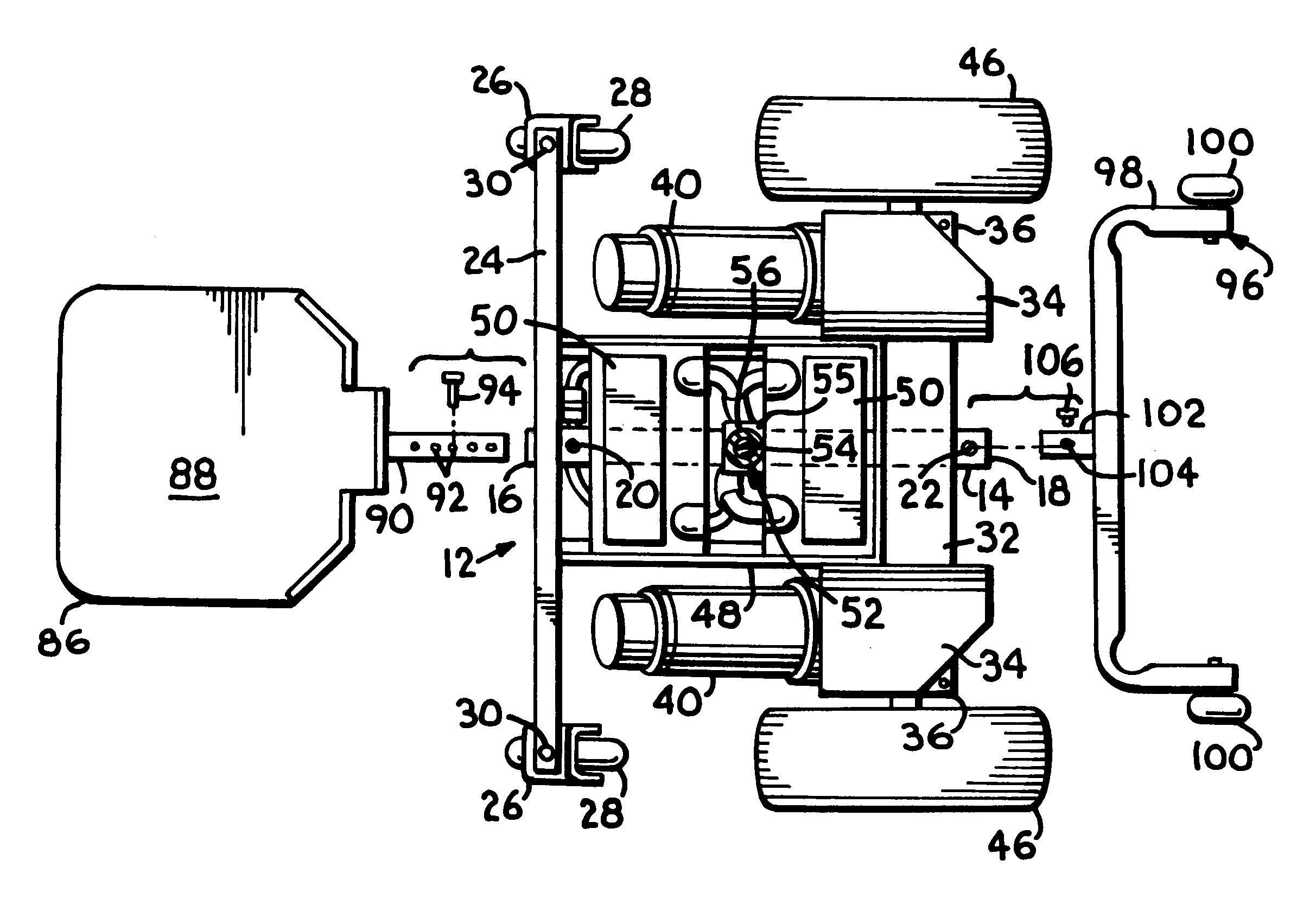 patent us6290011 - front wheel  rear wheel drive convertible wheelchair