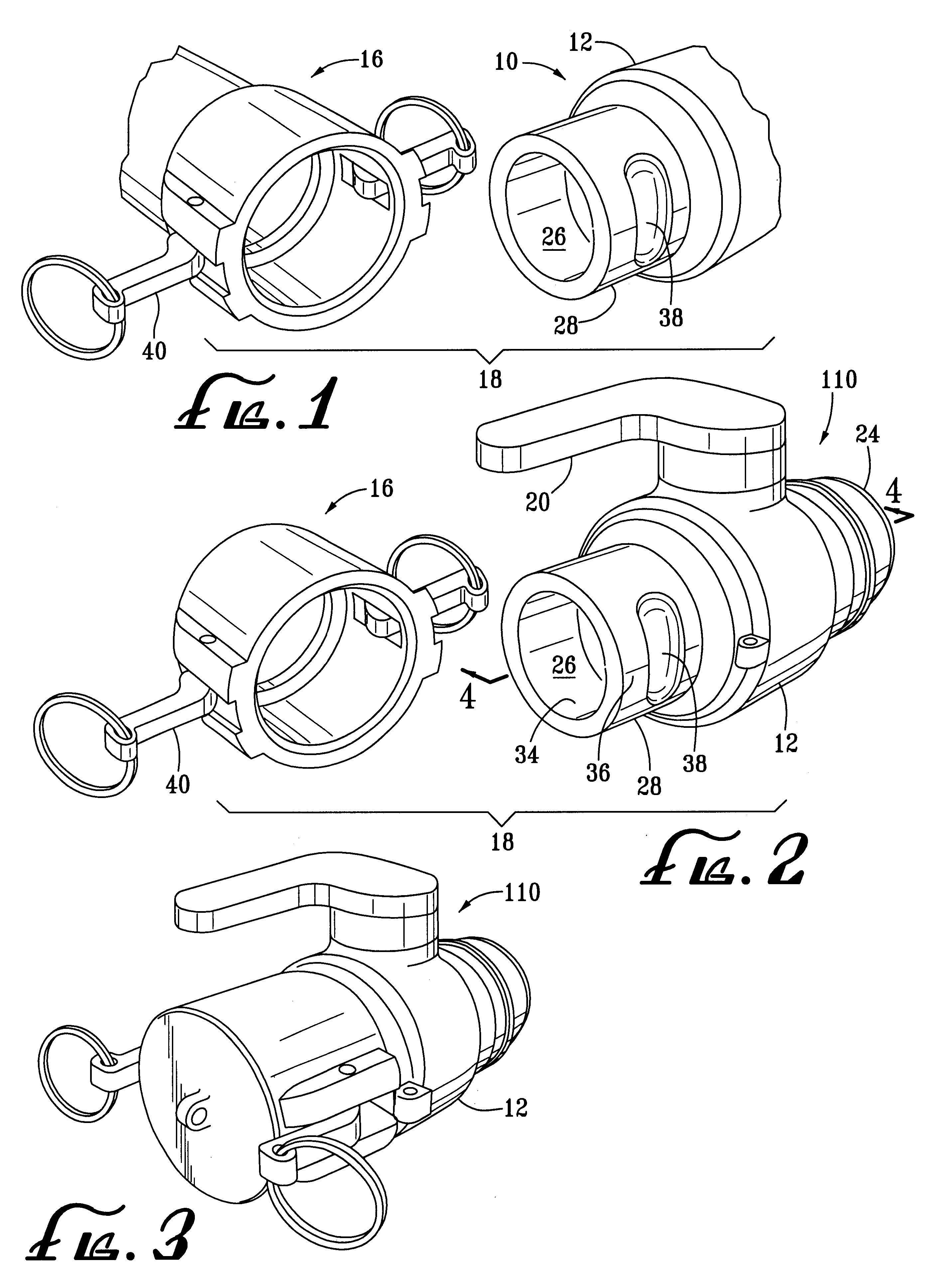 Patent us cam lock fitting google patents