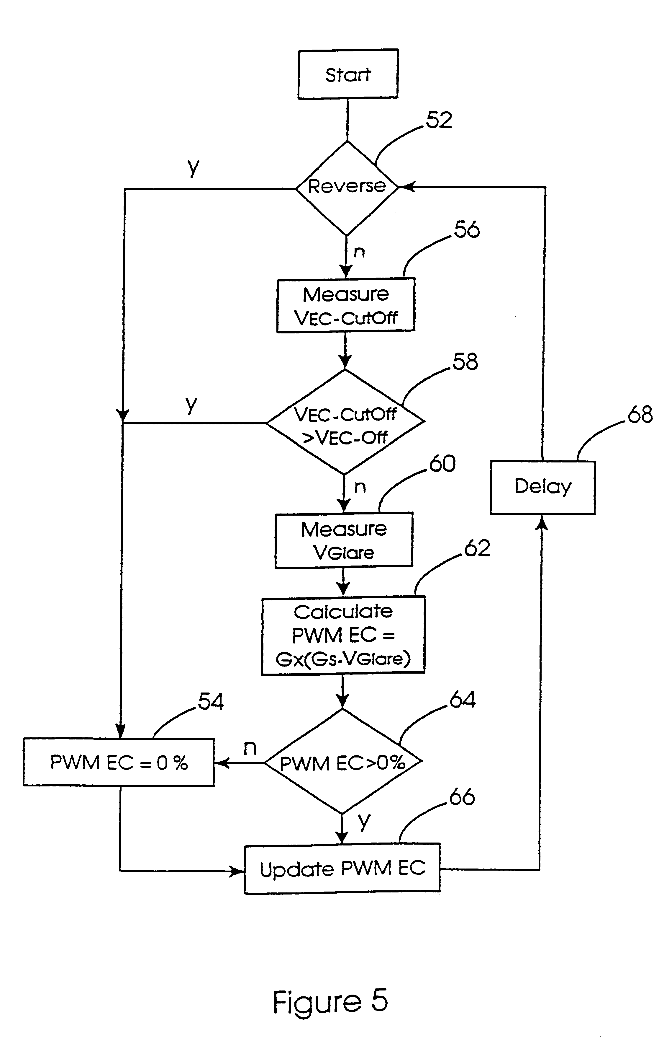 patent us6291905 vehicle rearview mirror and a vehicle control patent drawing