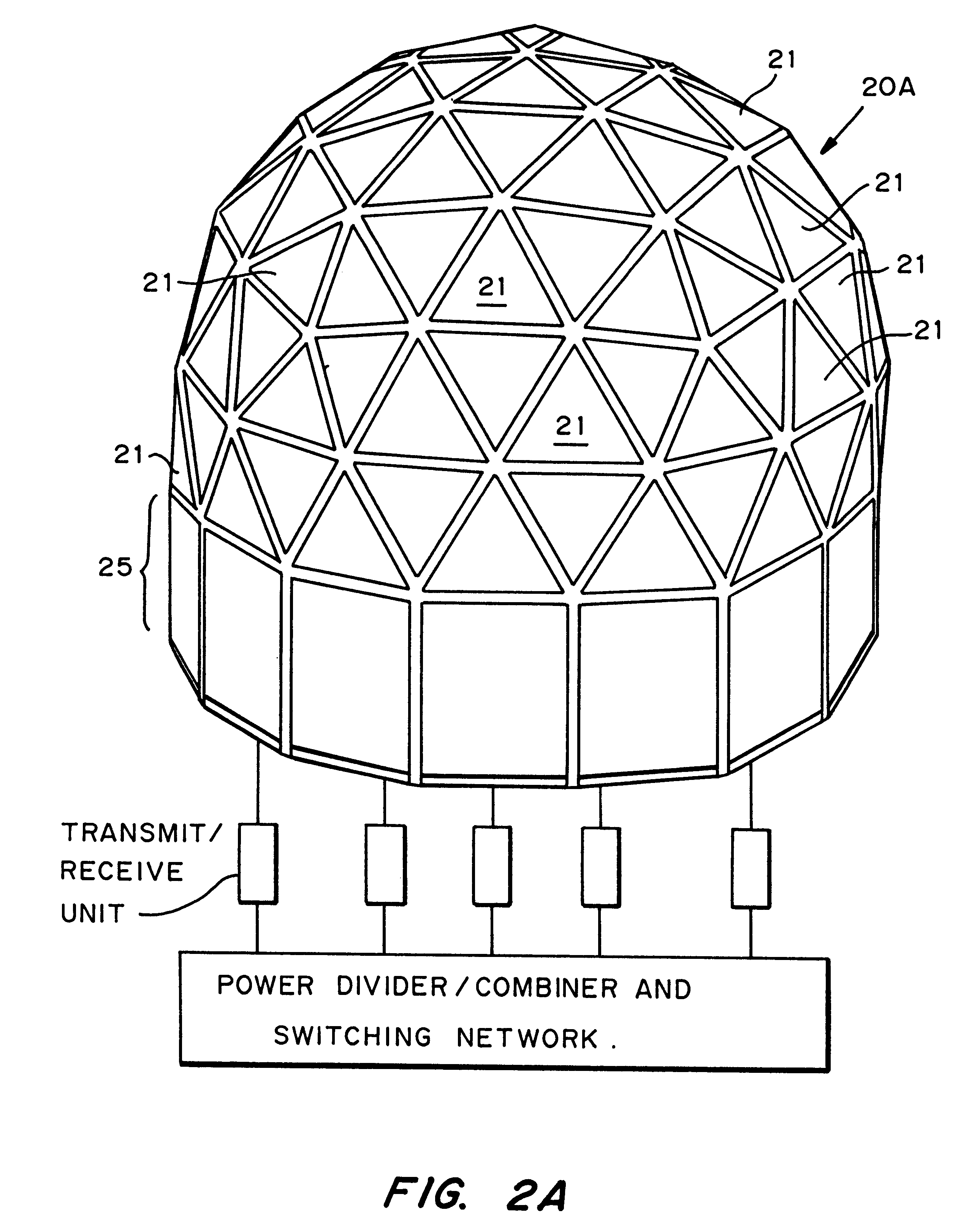 Patent US6292134 - Geodesic sphere phased array antenna
