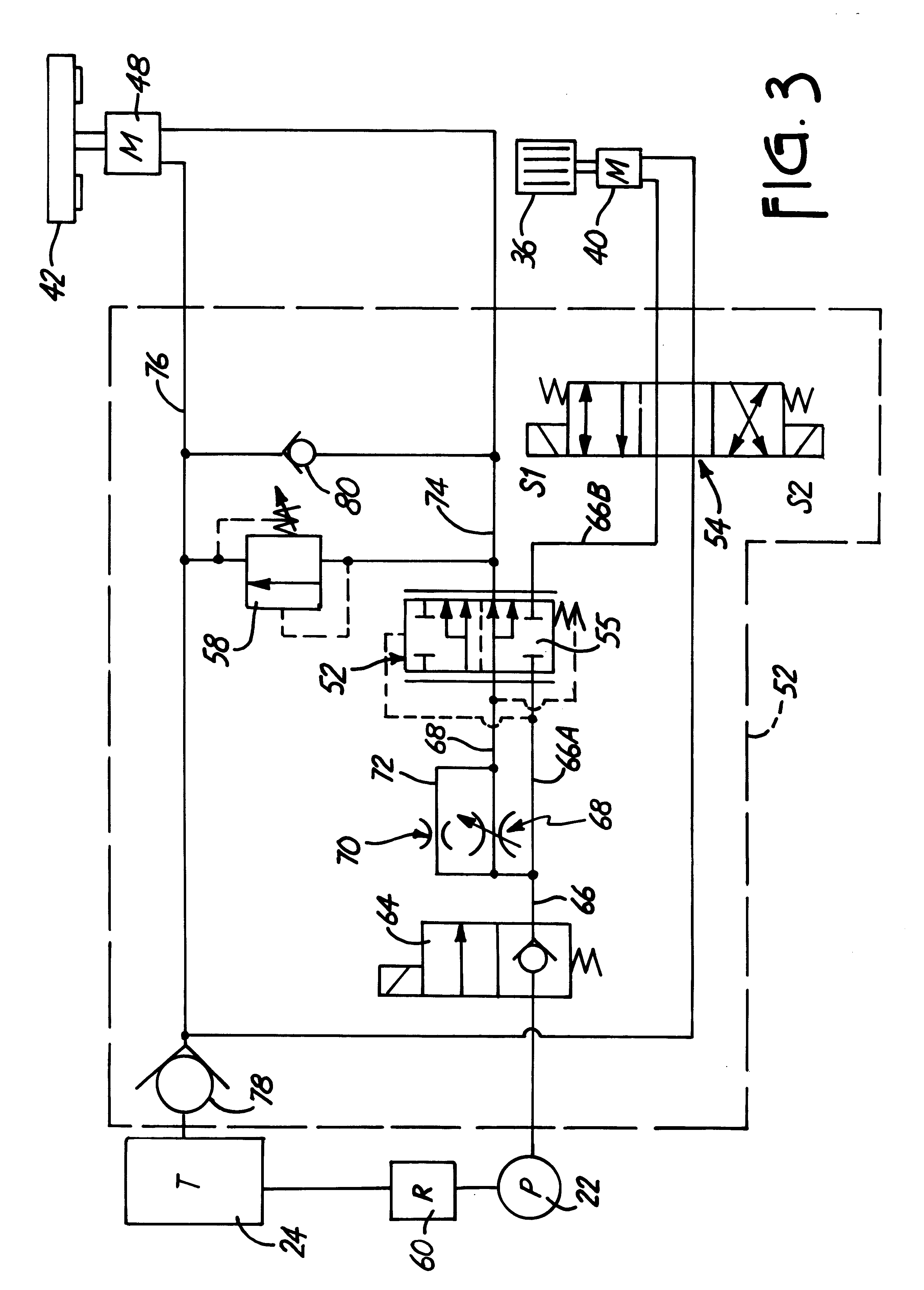 Patent Us6293479 Feed Control Hydraulic Circuit For Wood
