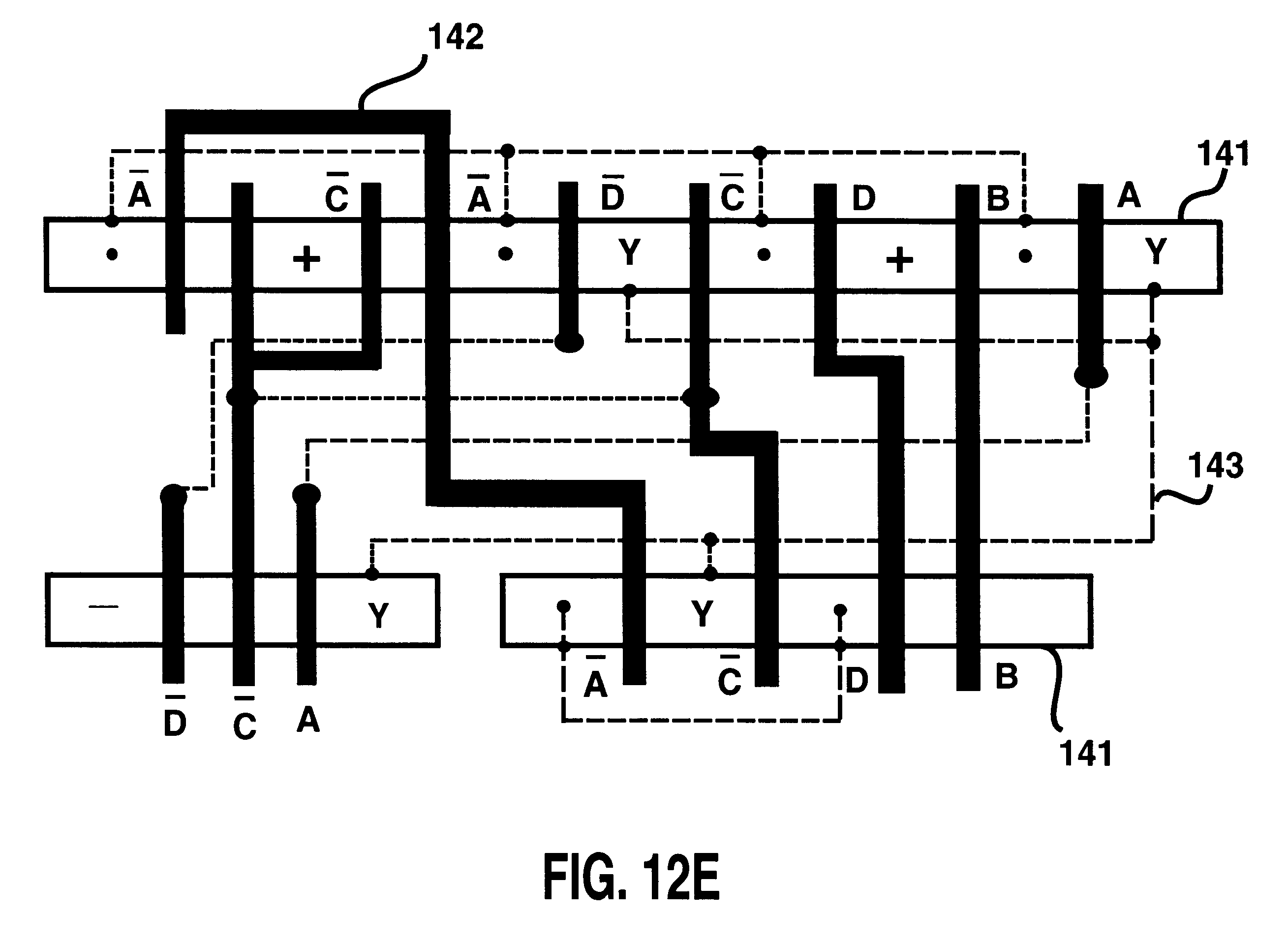 patent us6297668 - serial device compaction for improving integrated circuit layouts