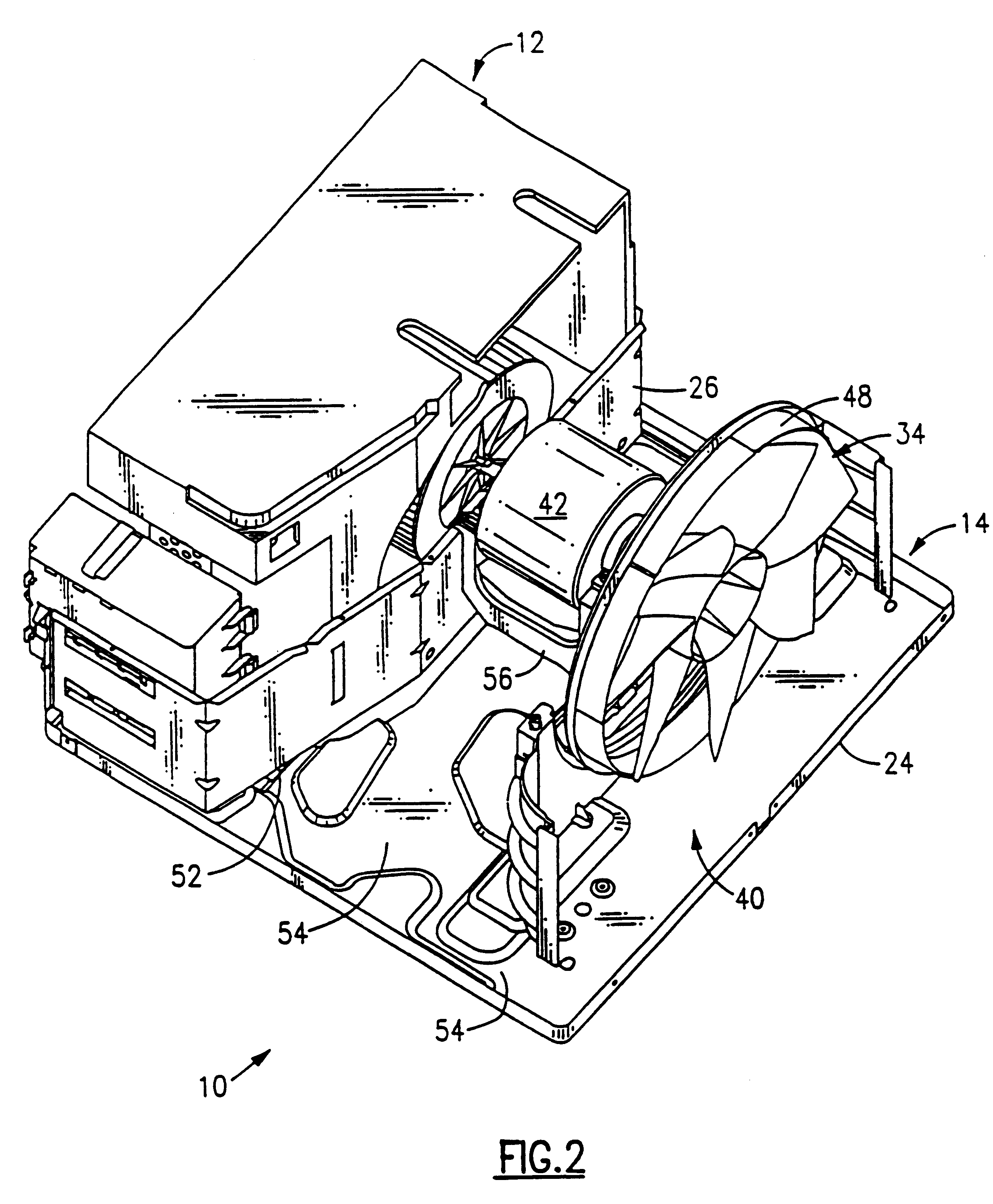 patent us6298682 condensate deflector for an air conditioner Furnace Condensate Drain Plug patent drawing