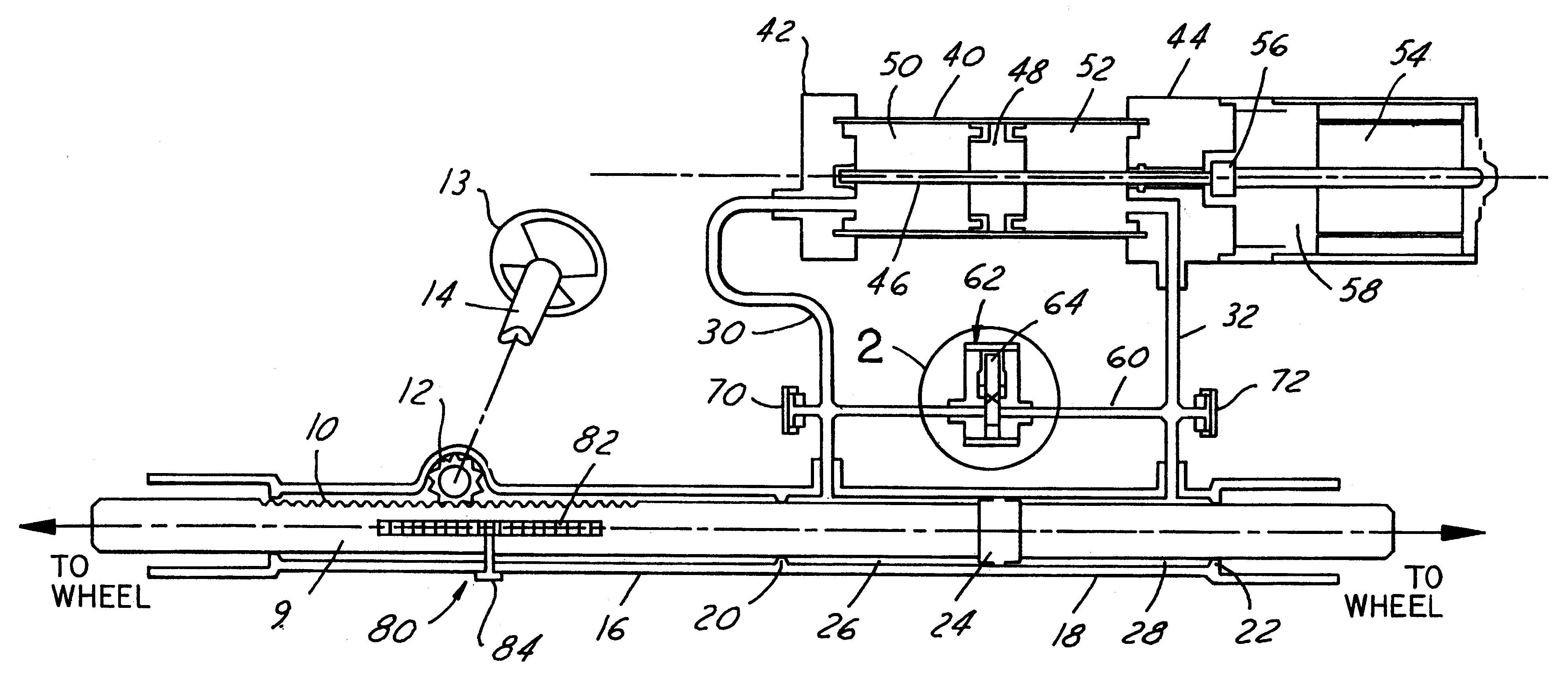 patent us6298941 - electro-hydraulic power steering system