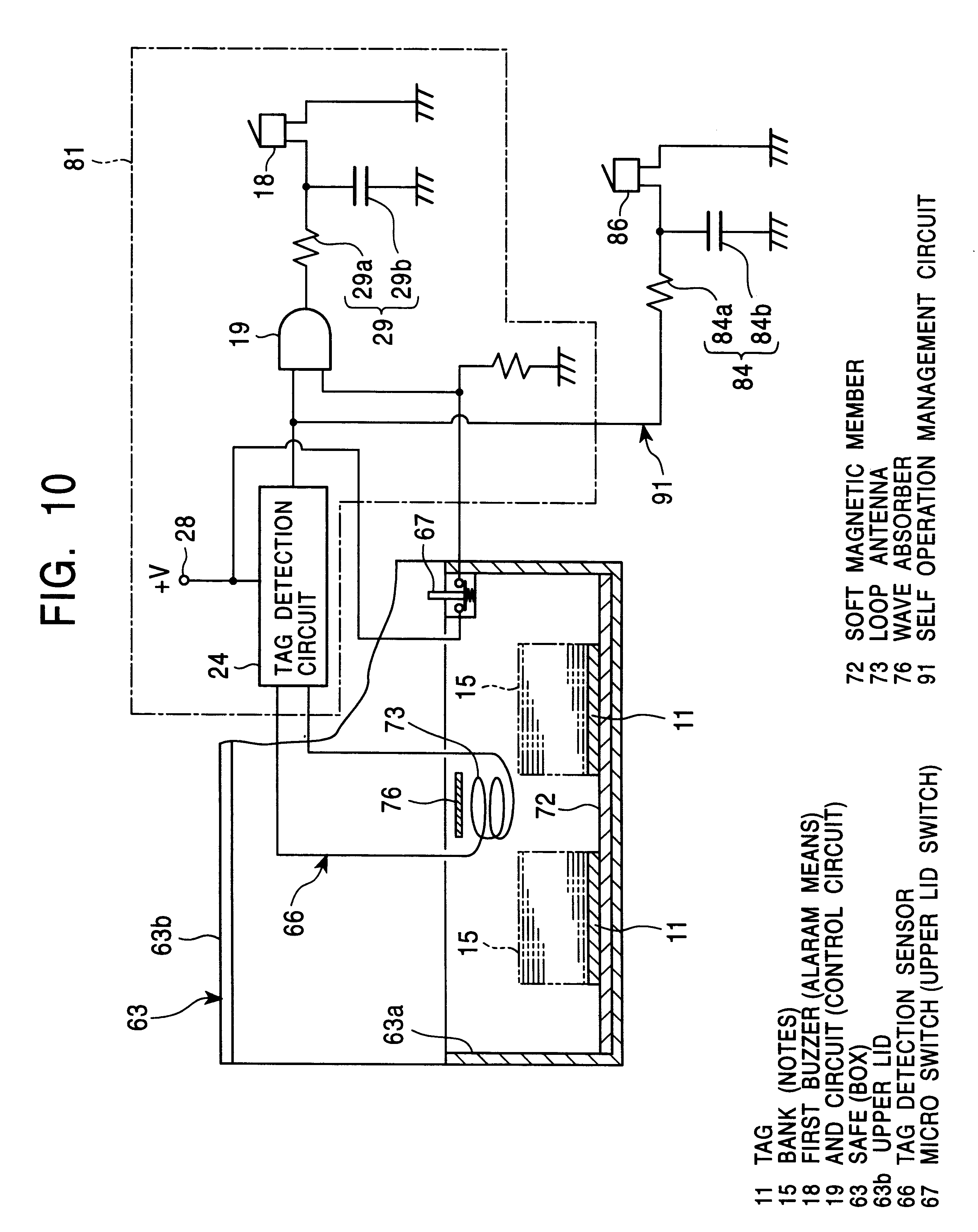 Patent Us6304182 Apparatus For Detecting Theft By A Radio Wave This Is Basic Buzzer Driver Circuit With Resonance Frequncy Drawing