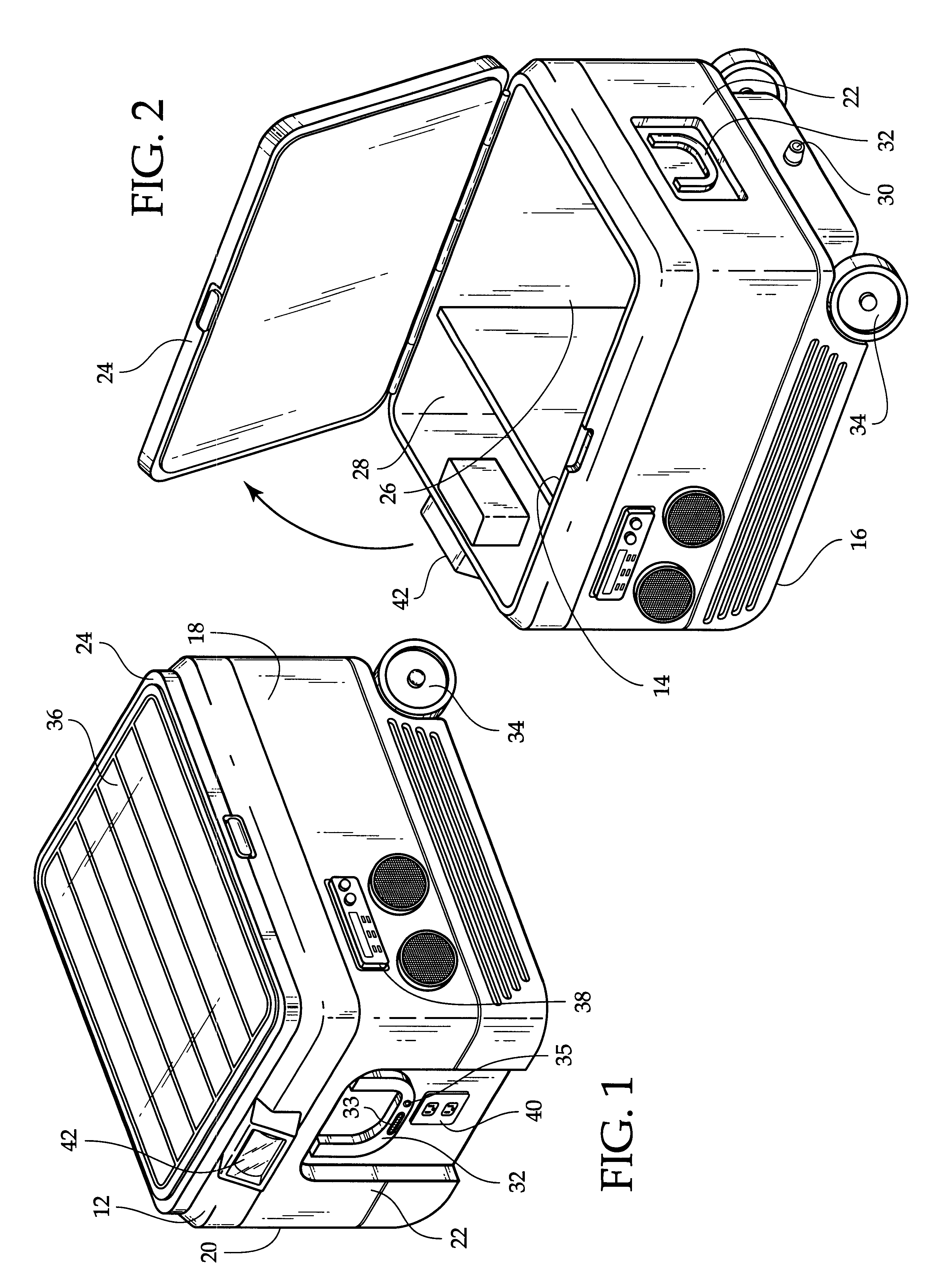 Patent Us6305185 Cooler Device With Integrated Solar