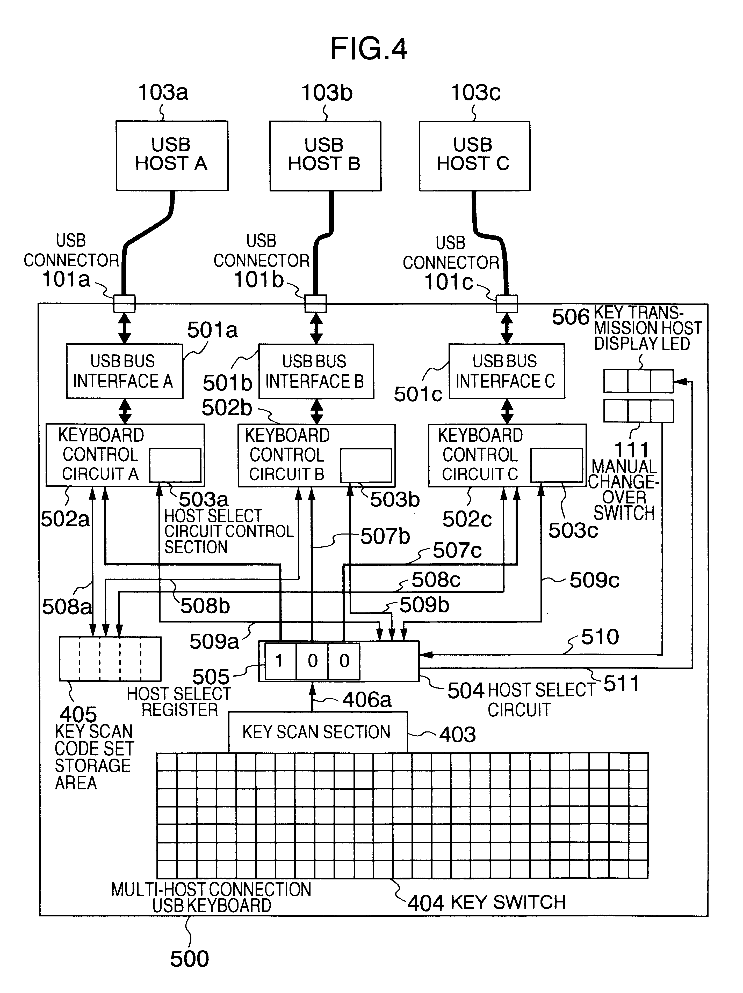 Patent Us6308239 Interface Switching Apparatus And Case 508c Wiring Diagram Drawing