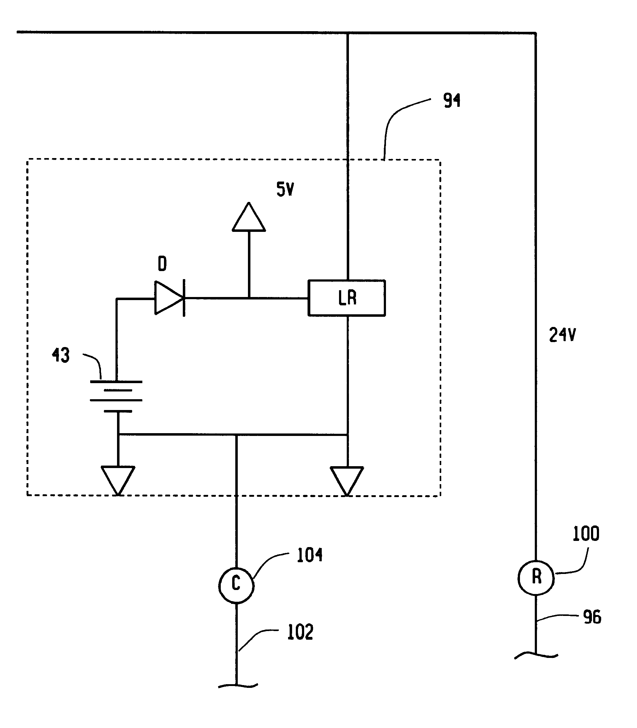 patent us hardwired or battery powered digital thermostat patent drawing