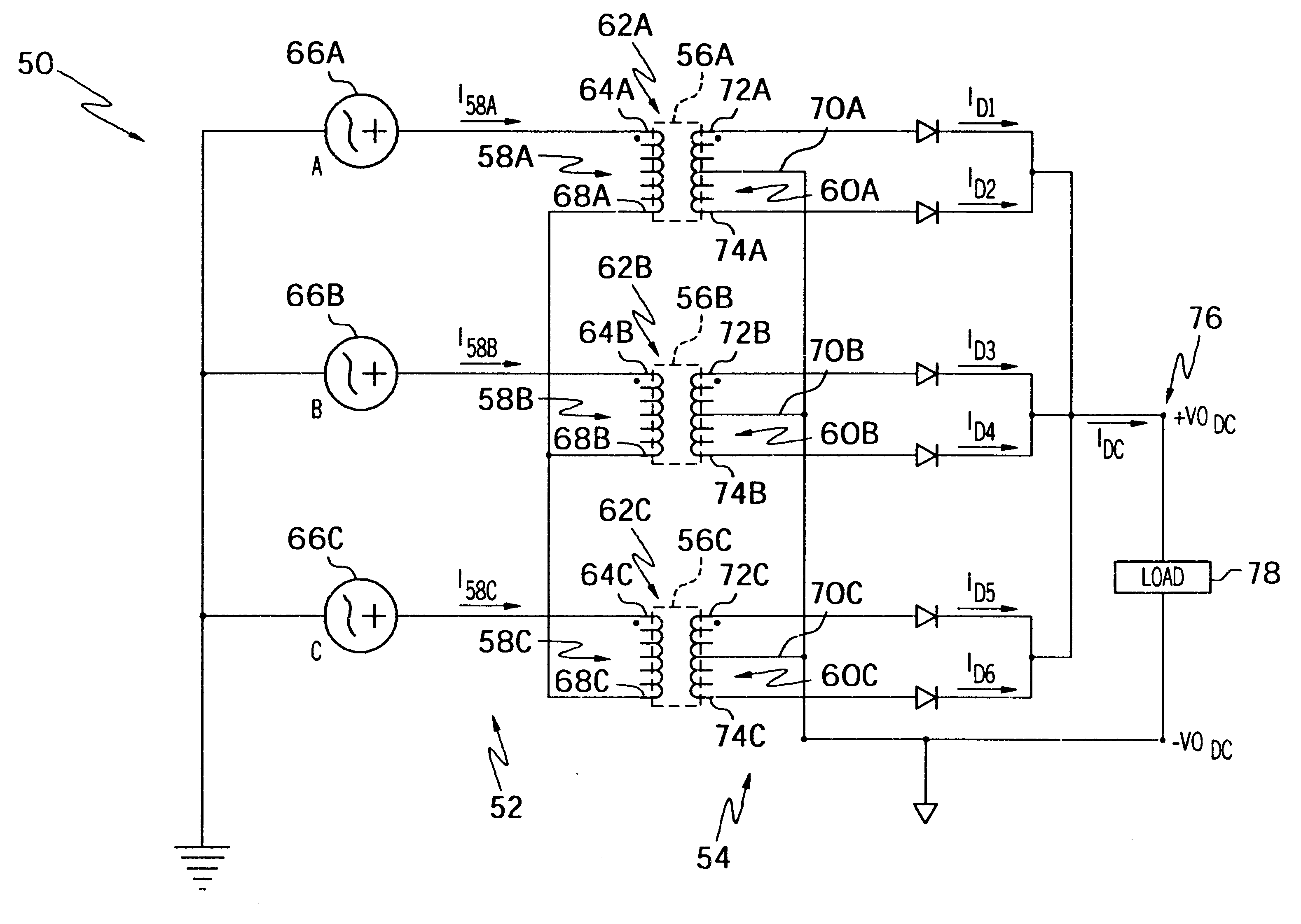 Patent Us6320773  Rectifier For Aircraft