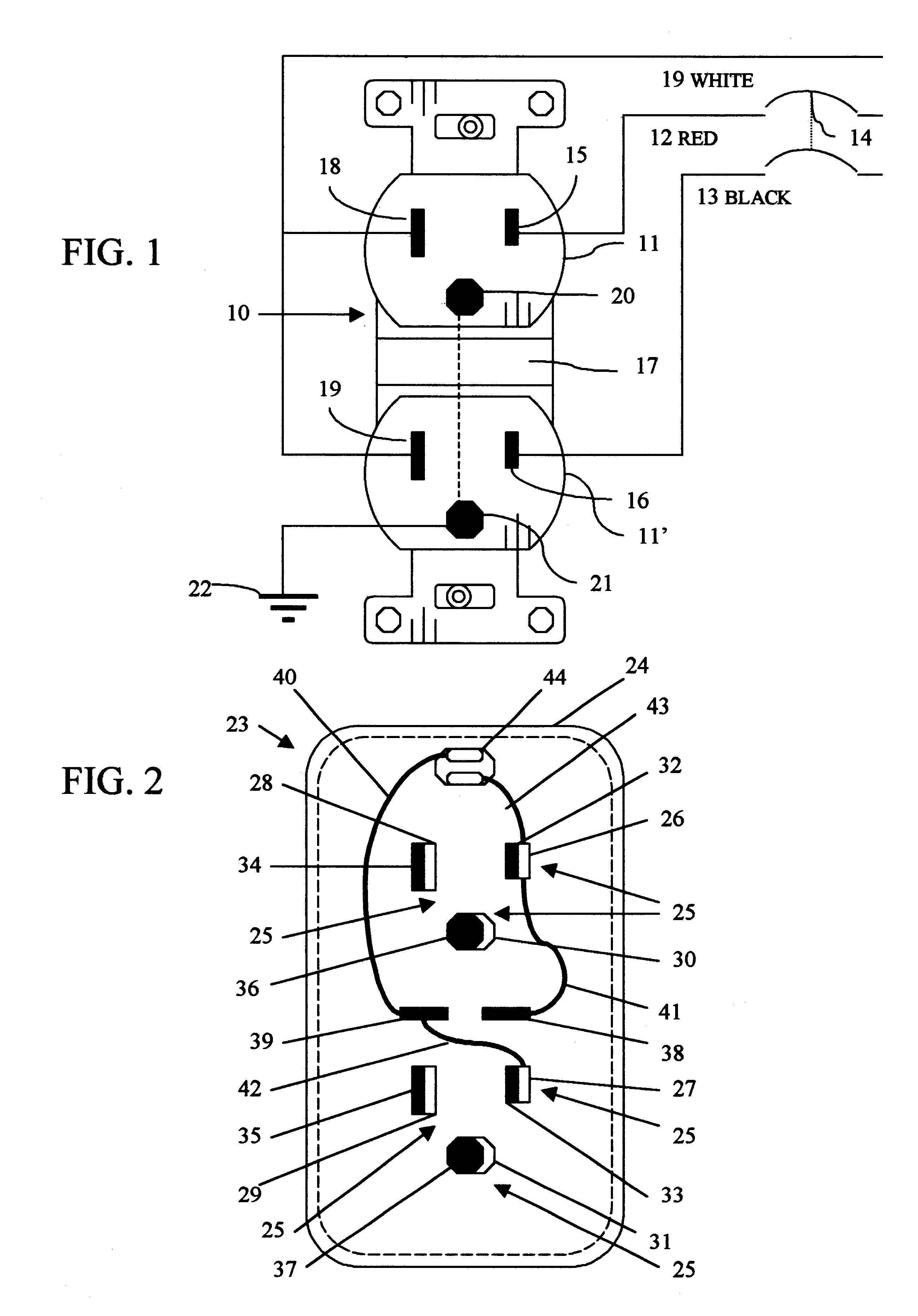 Patent Us6328584 Split Circuit 120 240 Volt Adapter