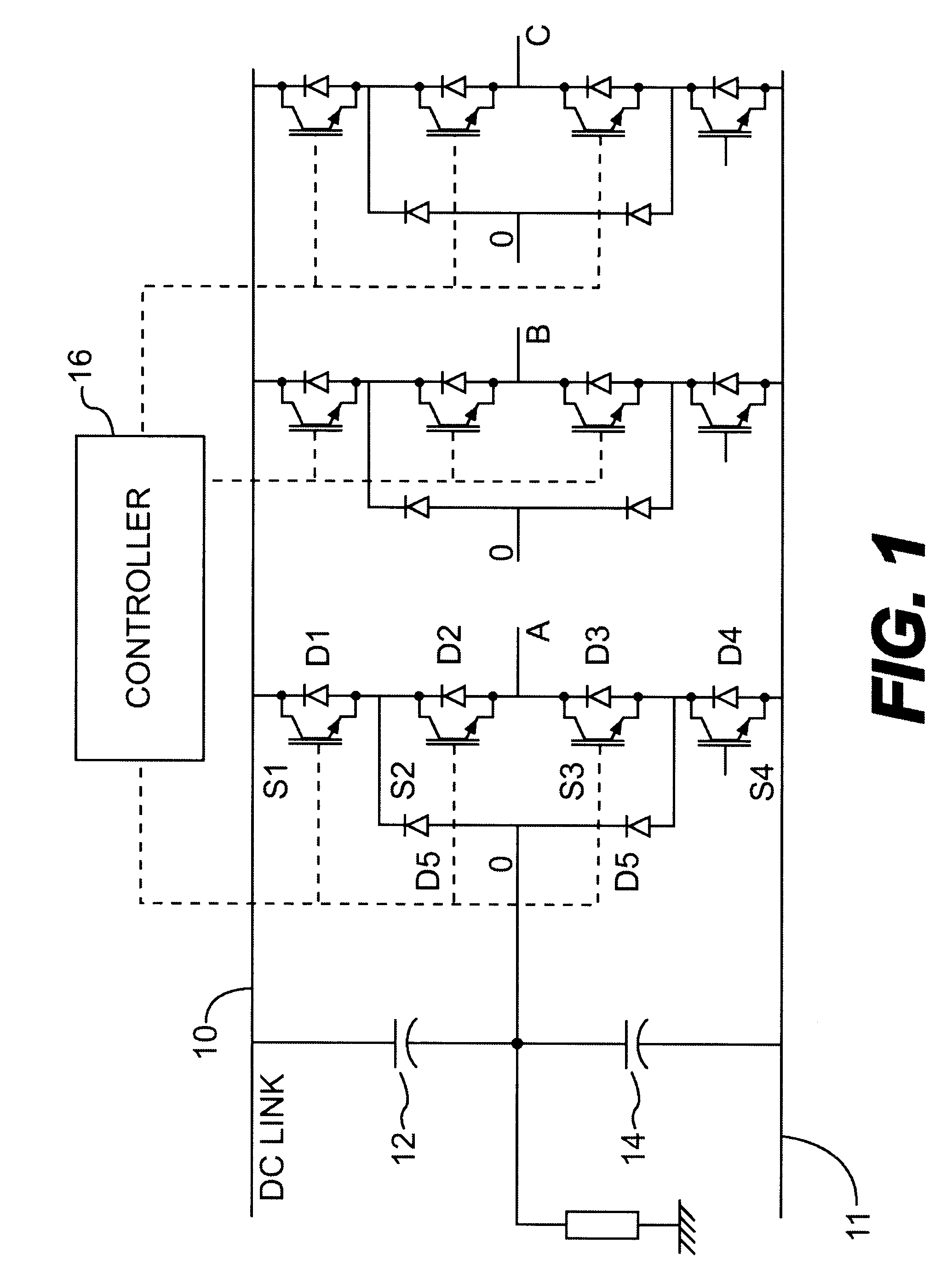 patent us6337804 multilevel pwm voltage source inverter control at DC Motor Controller Using LM555 patent drawing