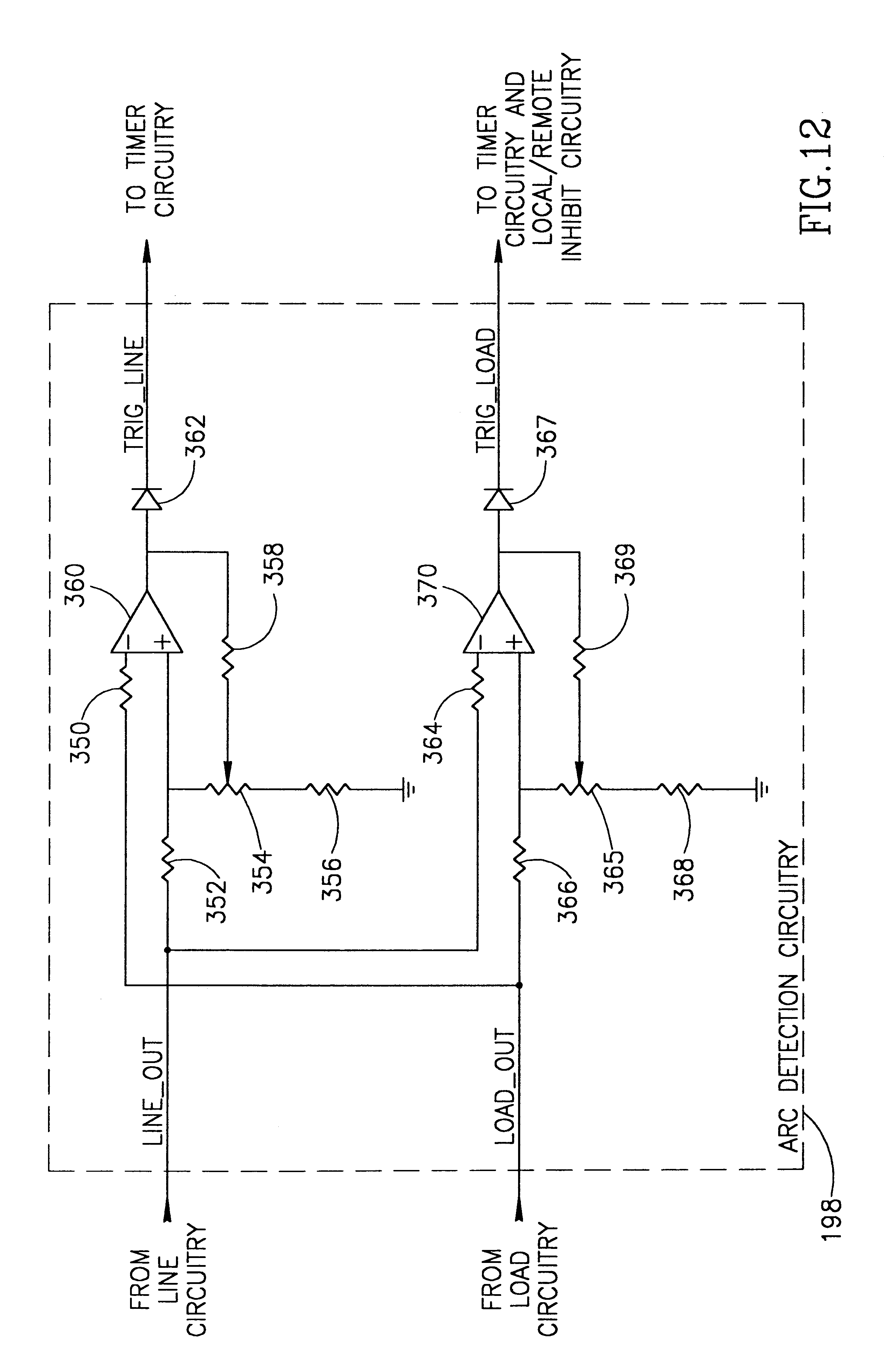 patent us6339525 - arc fault detector with circuit interrupter