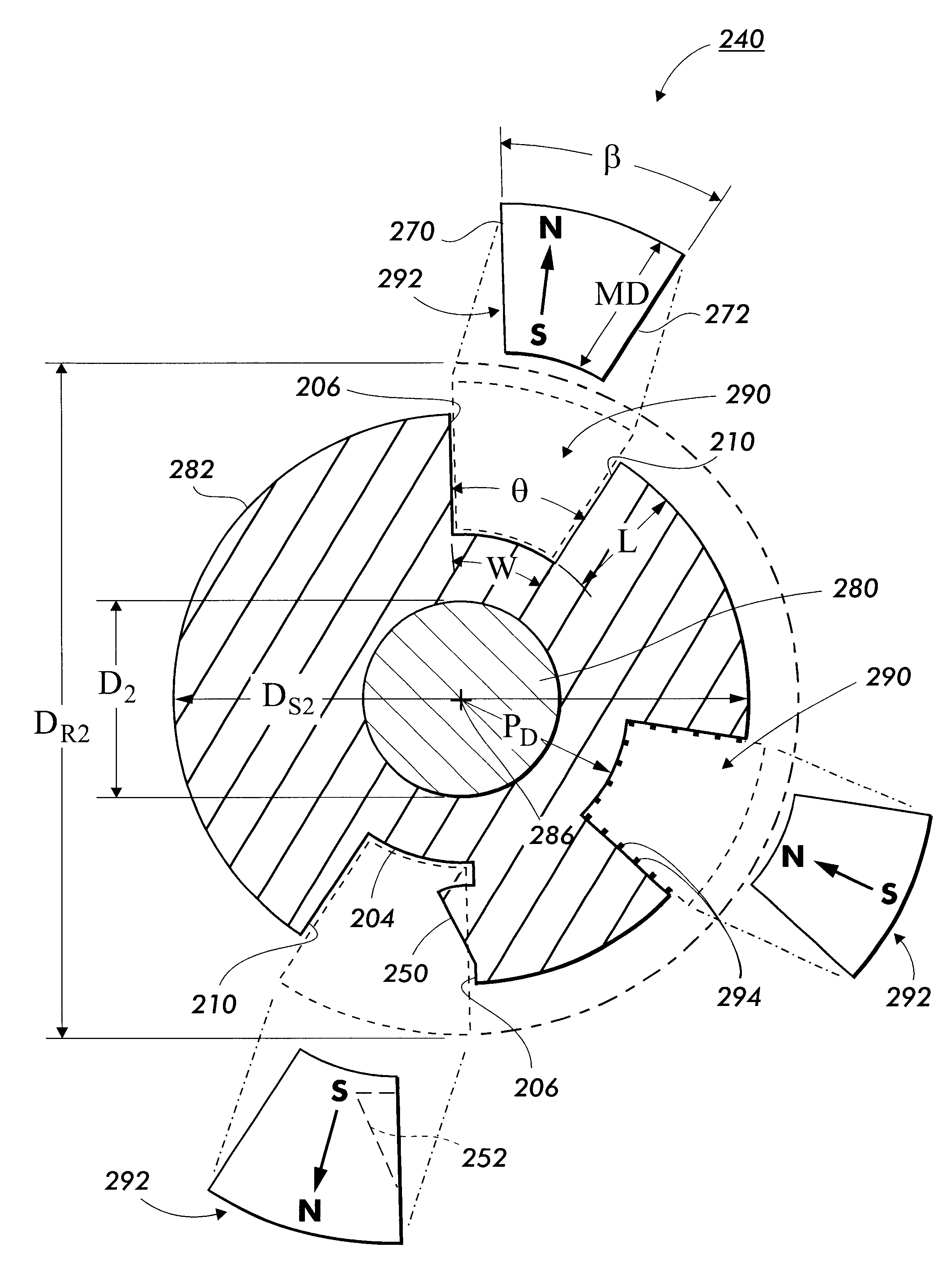 patent us6343419 method of manufacturing magnet assembly with Ceramic Magnets patent drawing