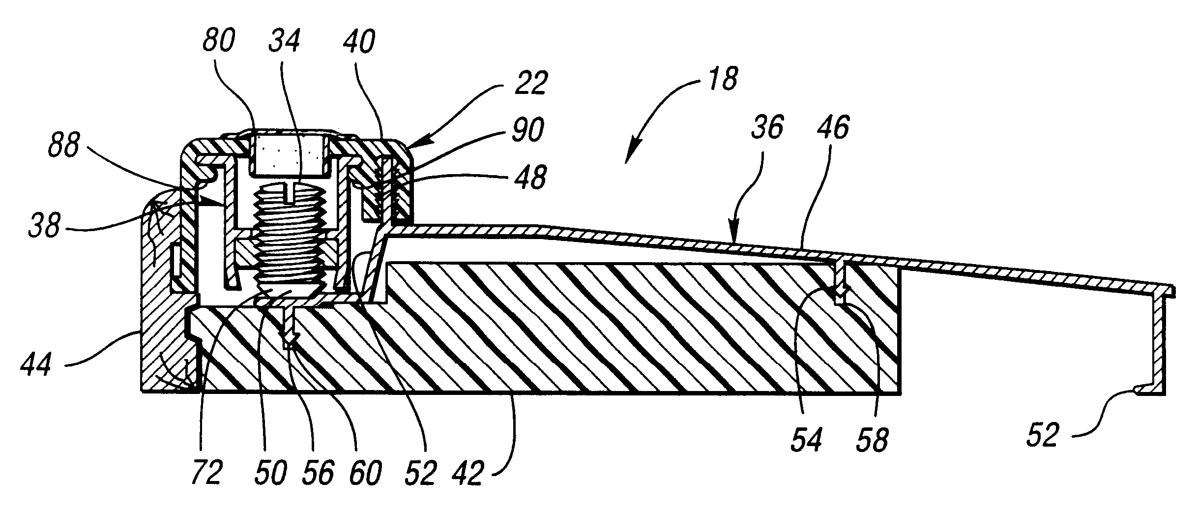 Patent us6345477 door sill assembly having adjustable - Adjustable exterior door threshold ...