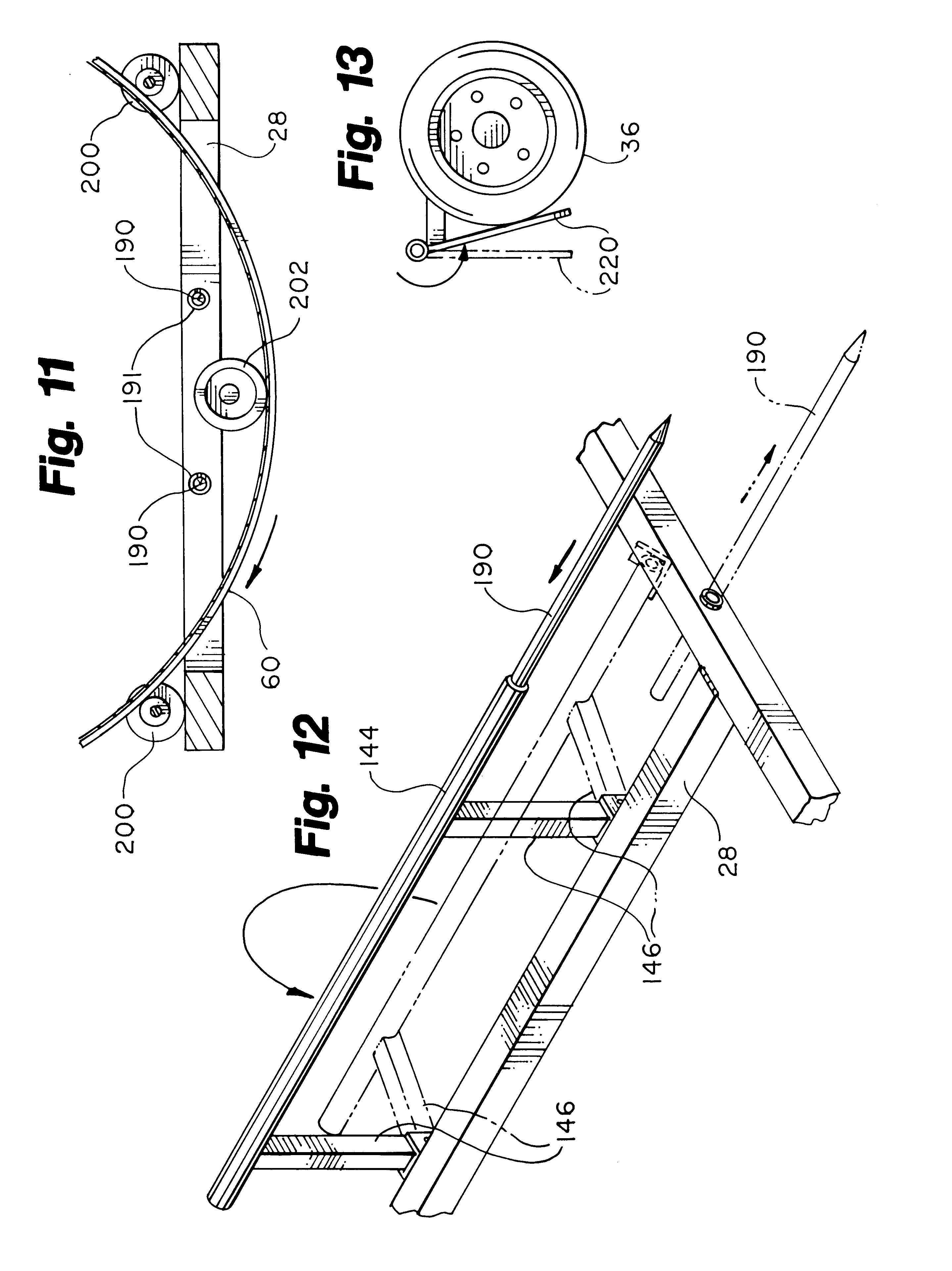 patent us6347500 forage wrapping device patents Hay Veil patent drawing