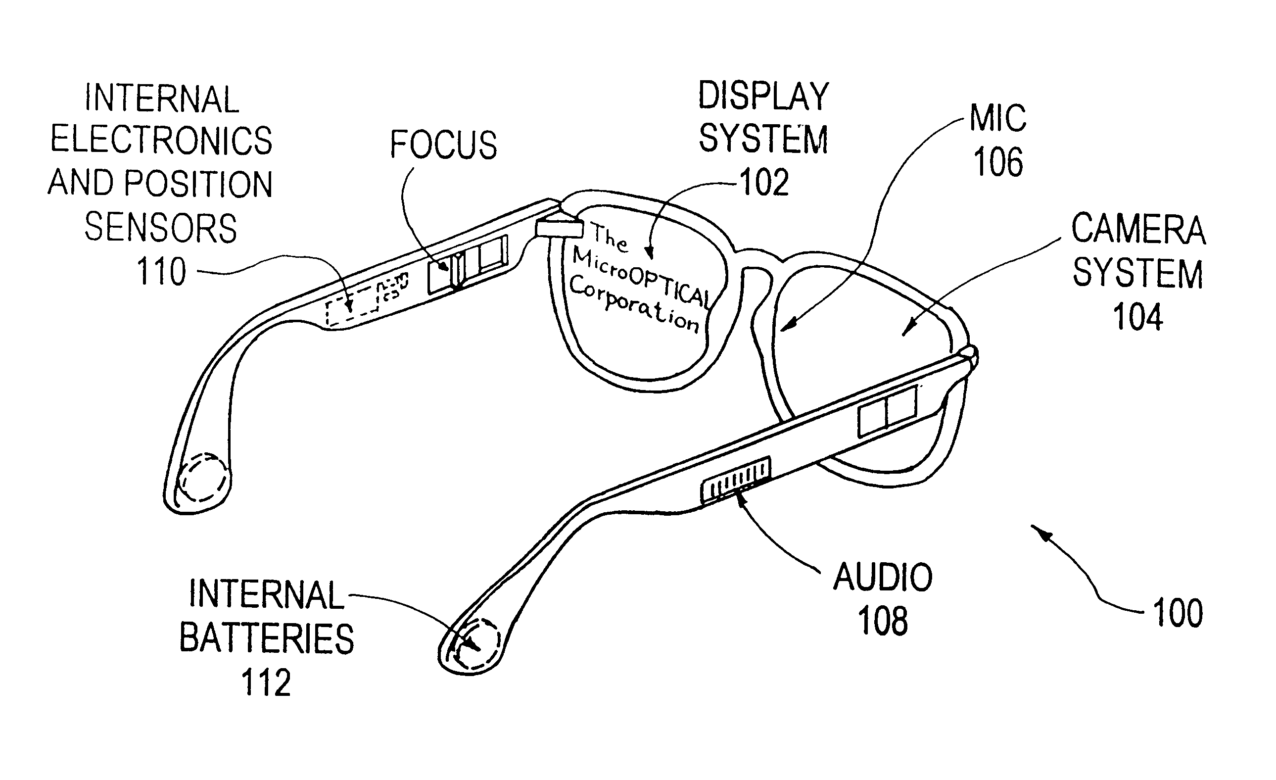Eyeglass Frame Diagram : Patent US6349001 - Eyeglass interface system - Google Patents