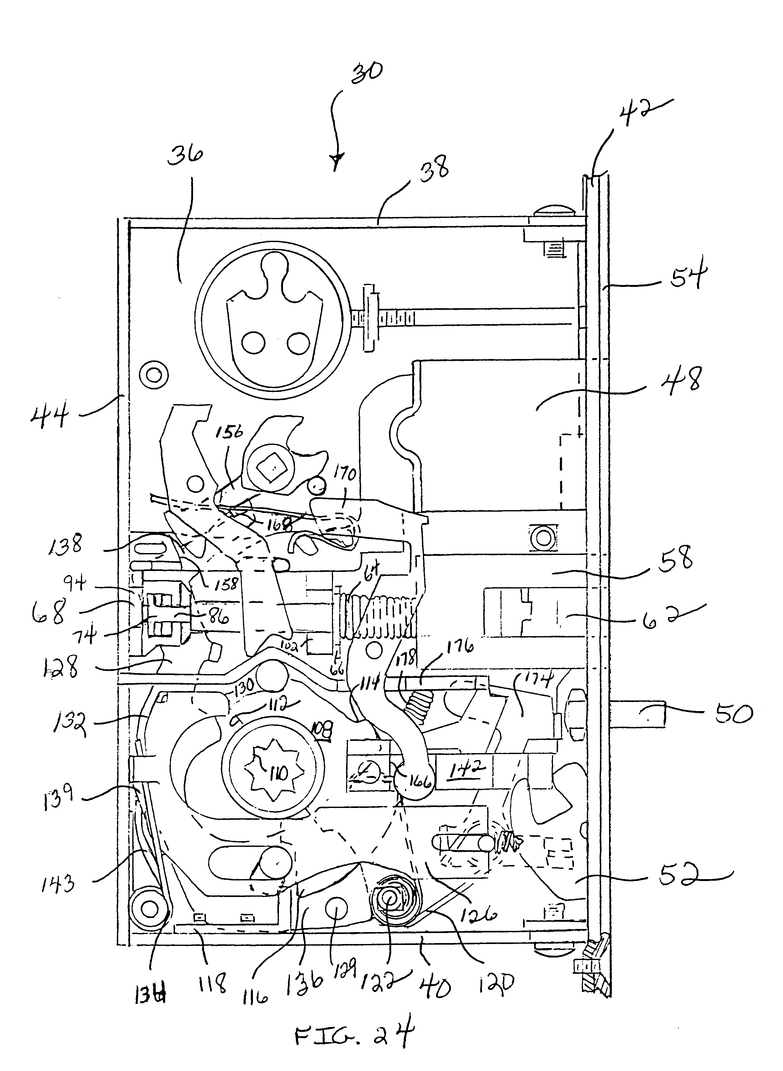 Patent Us6349982 Reversible Mortise Lock Google Patents