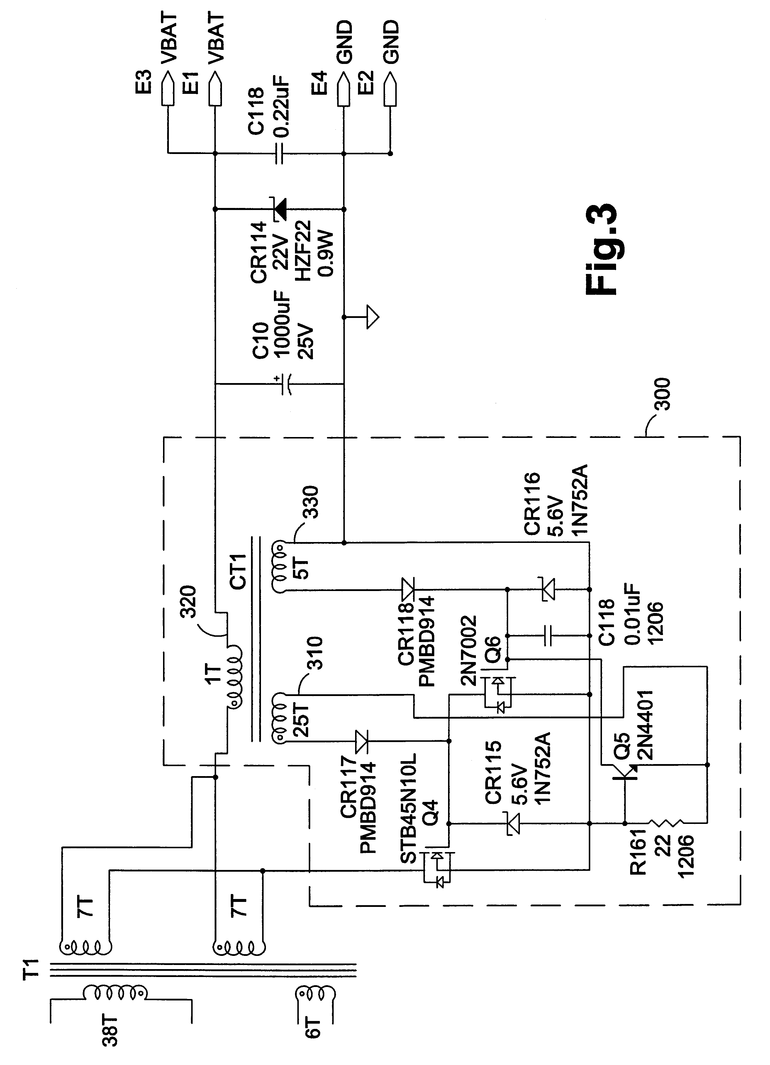 Patente Us6351402 Ac Adapter With Current Driven Zero Voltage This Is A Diagram Of Basic 6v System Converted To 12v Using Zenor Patent Drawing