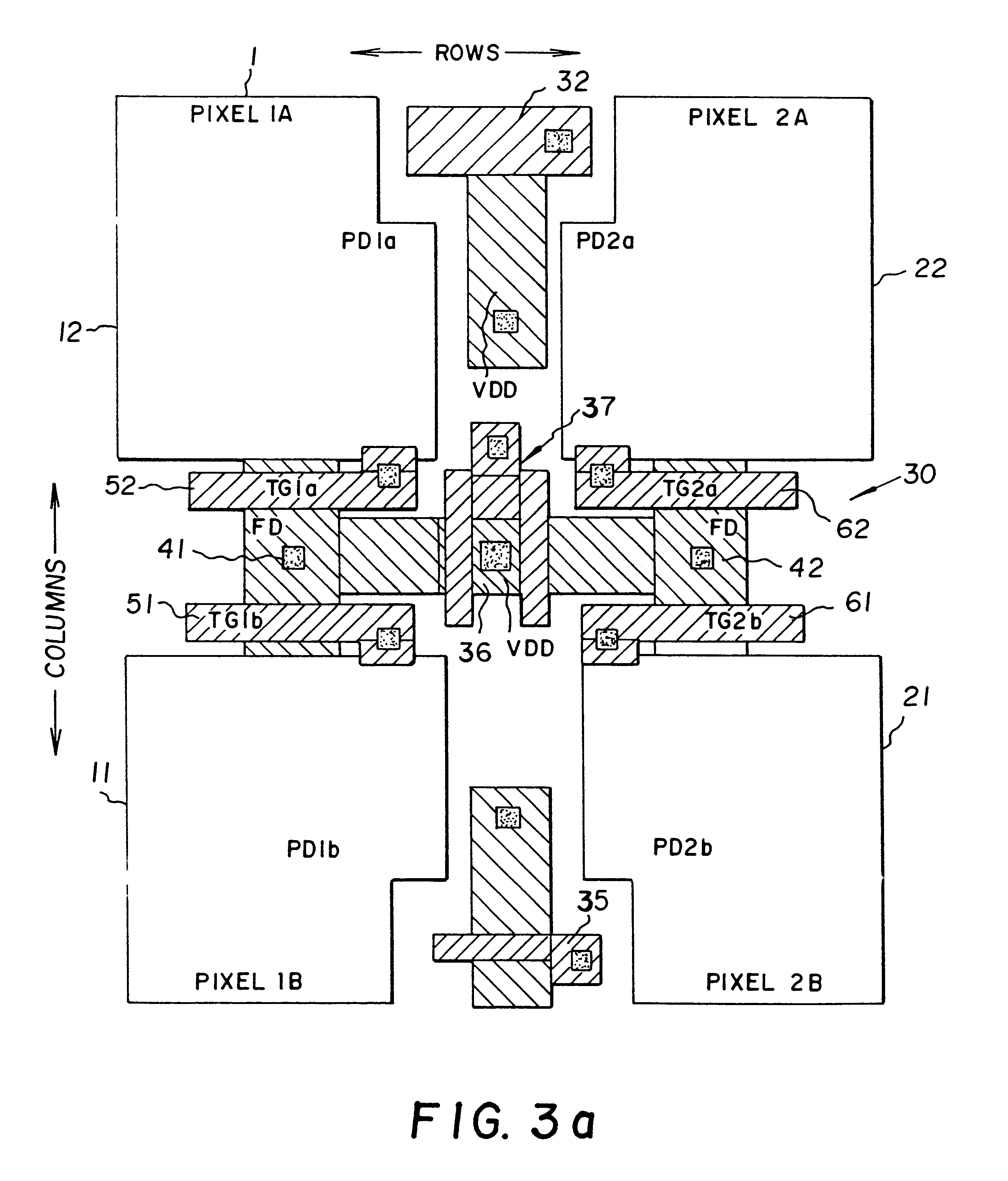 patent us6352869 - active pixel image sensor with shared amplifier read-out