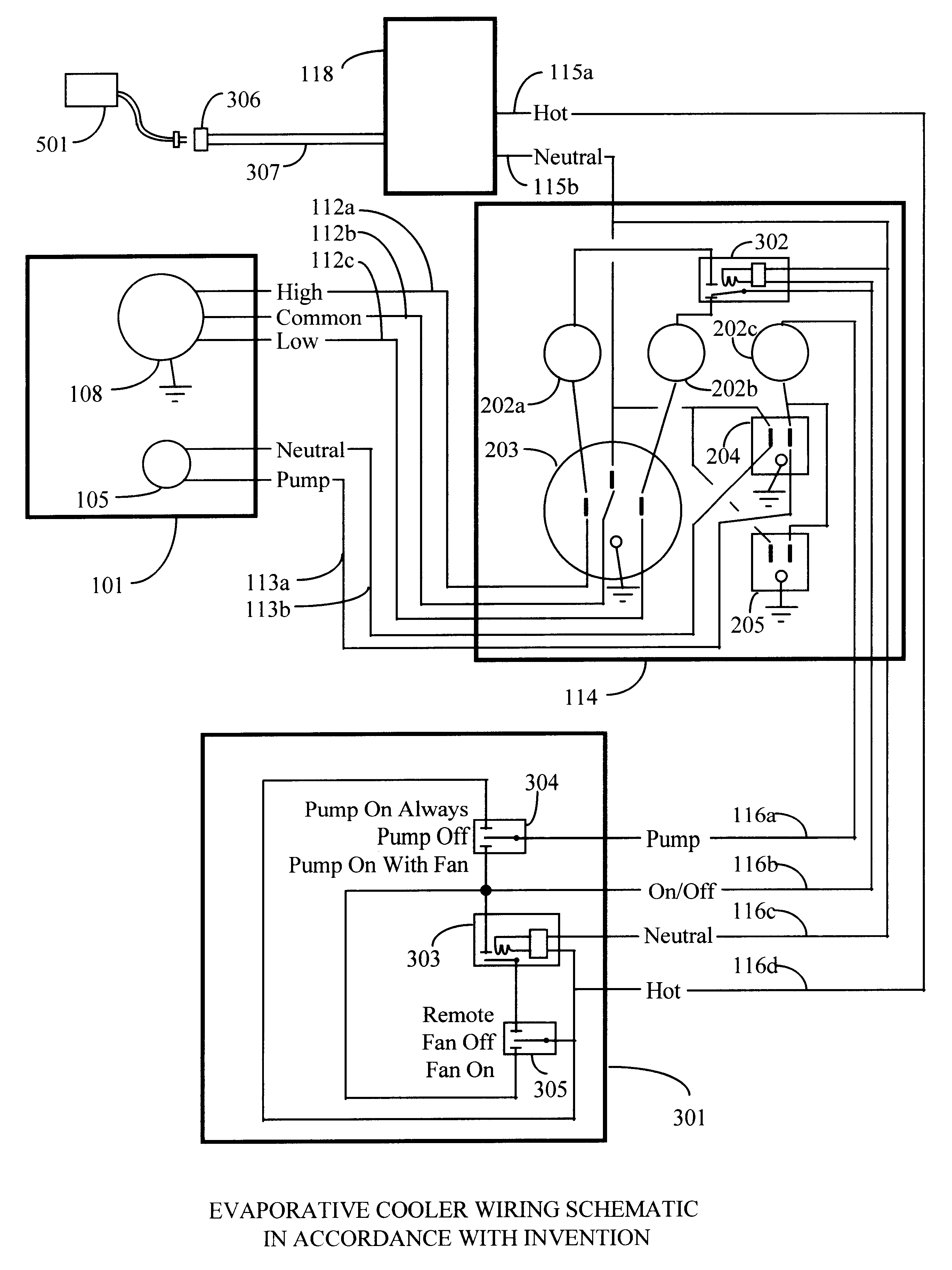 cooler motor wiring diagram patent us6357243 - remote control system for evaporative ...