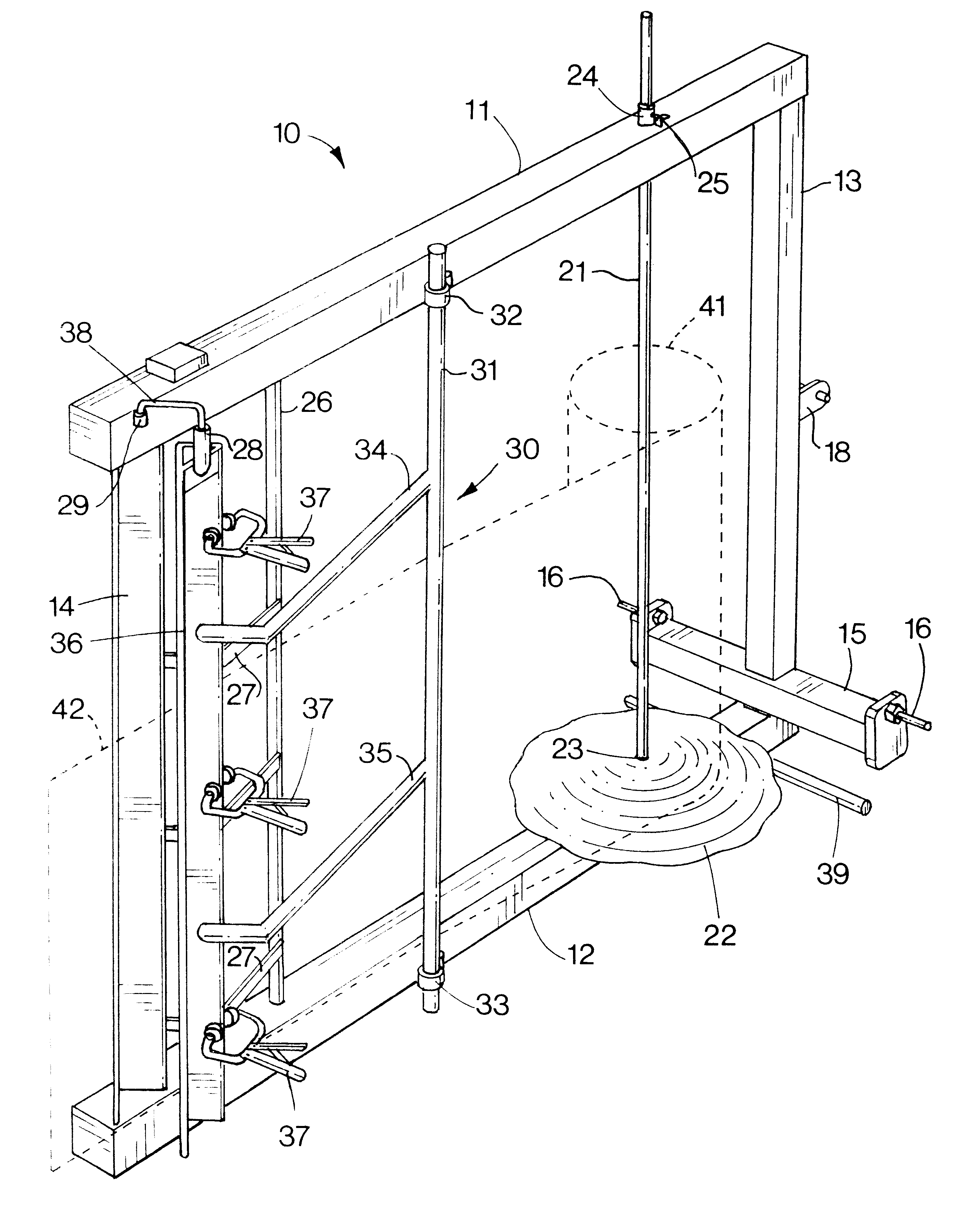 Patent Us6360984 Field Fence Unroller And Stretcher