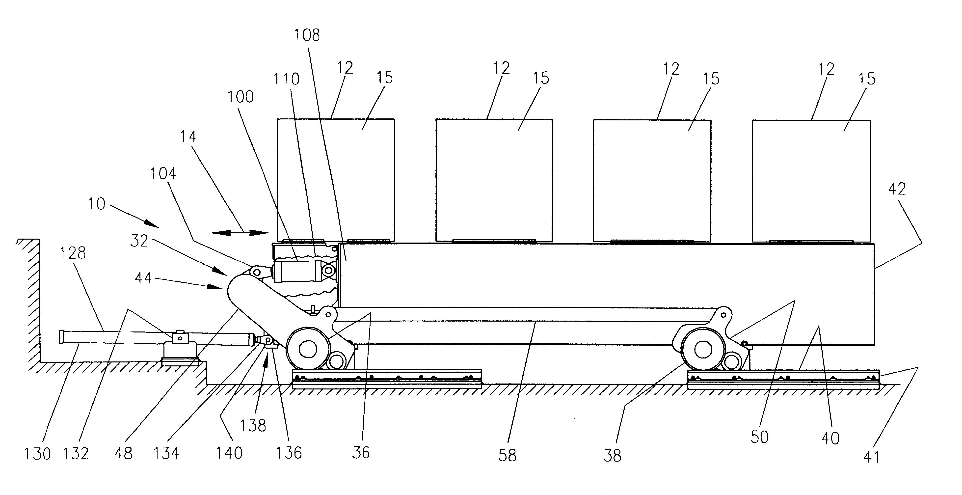 Patent Us6364093 Walking Beam Conveyor And Method
