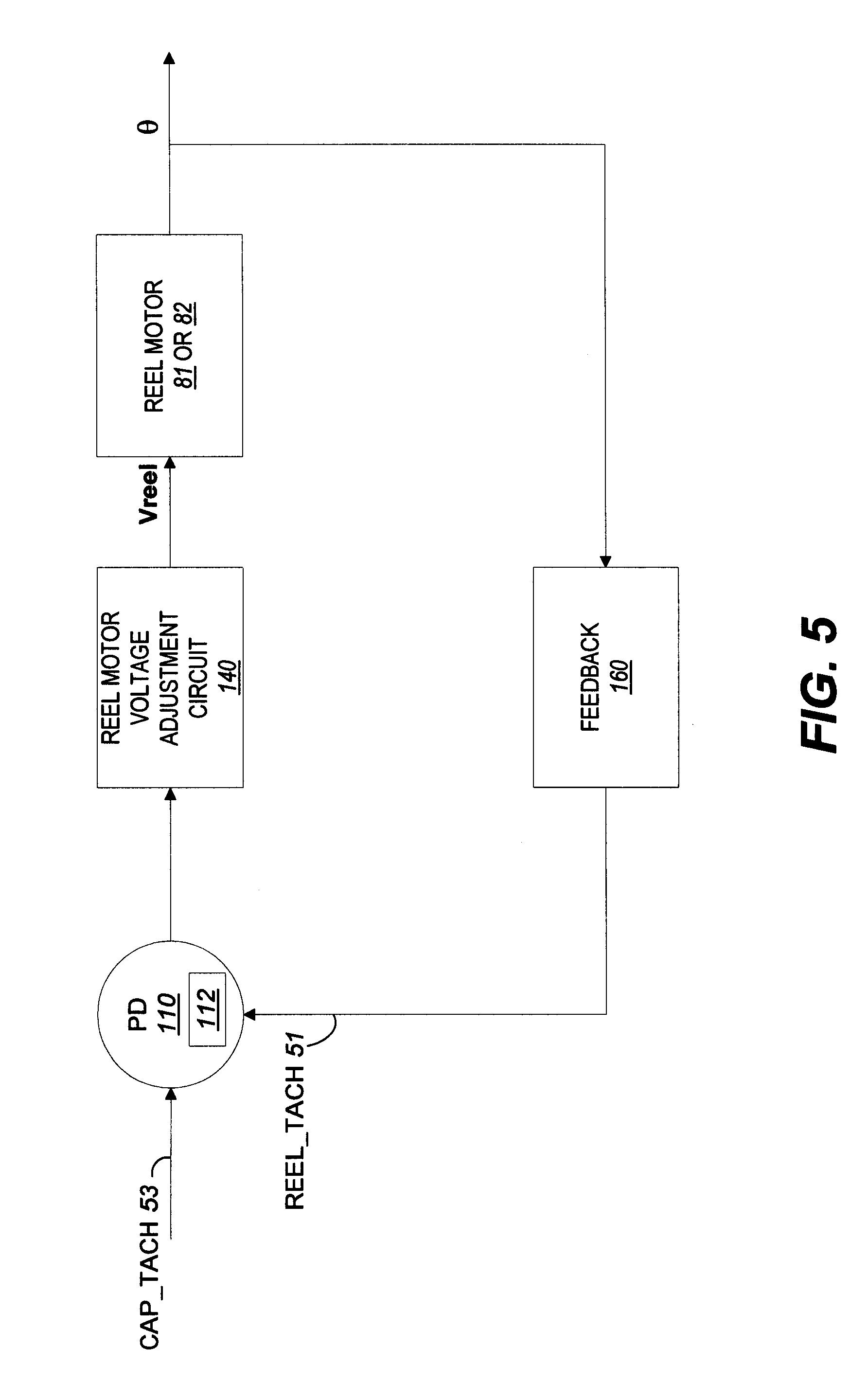 Patent US6364234 - Tape loop/slack prevention method and