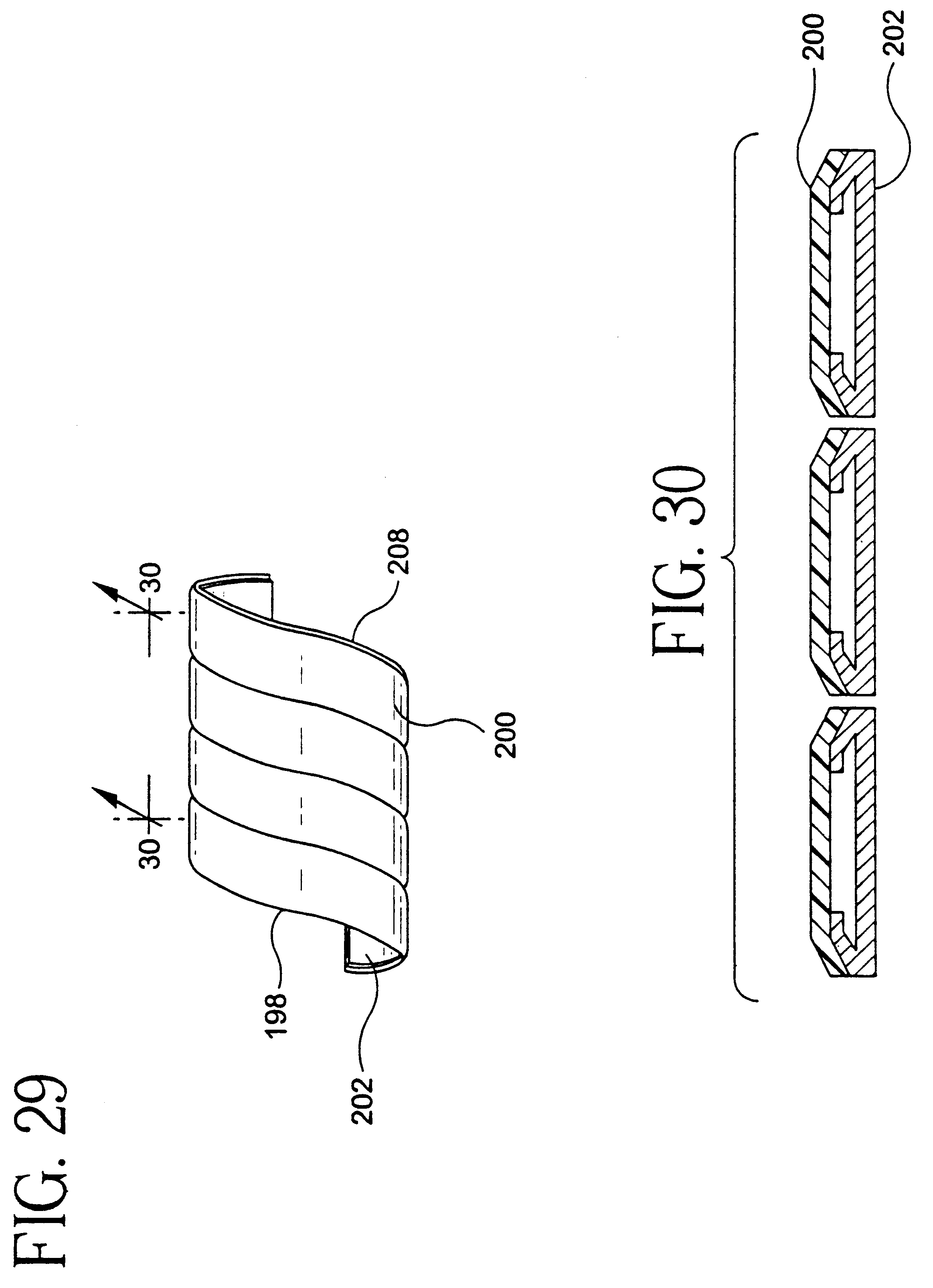 Method of manufacturing composite strips by continuous