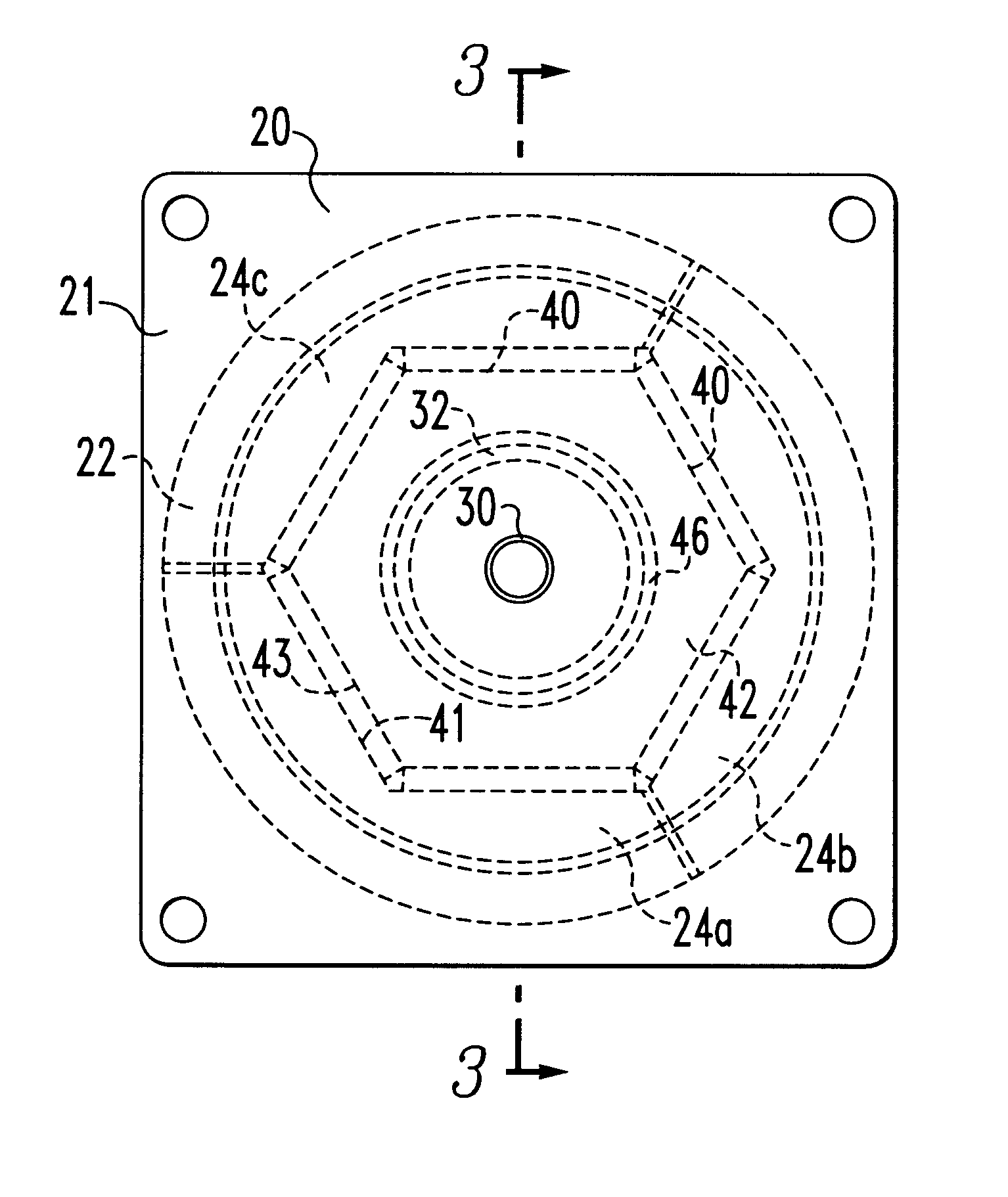 patent us6365993 round linear actuator utilizing flat permanent Cylinder Building patent drawing