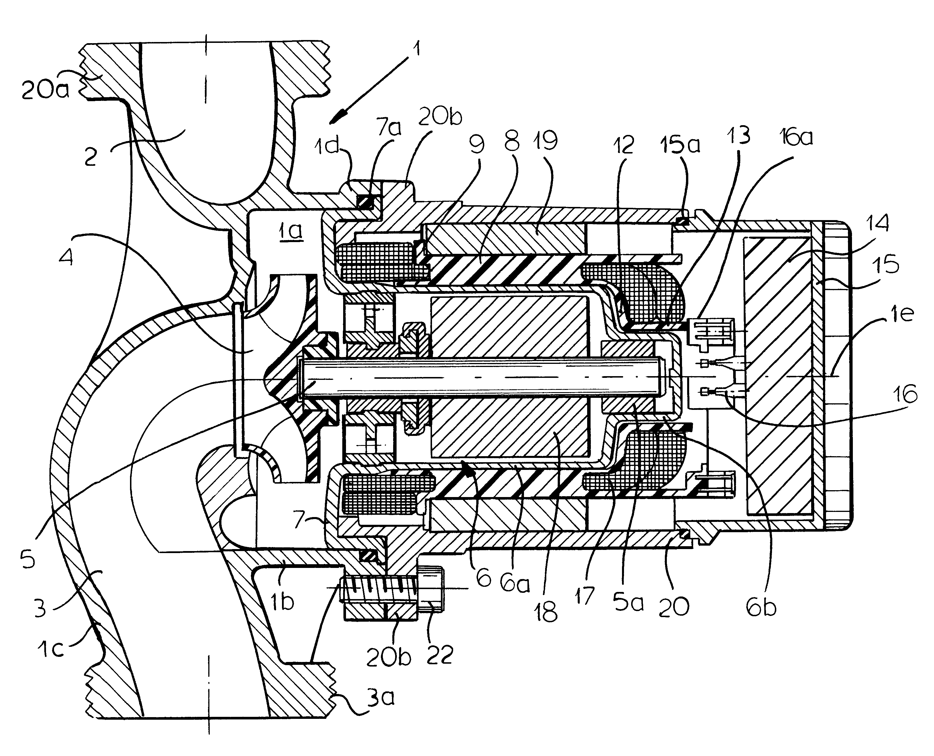 patent us6365998 canned motor pump with winding carrier google