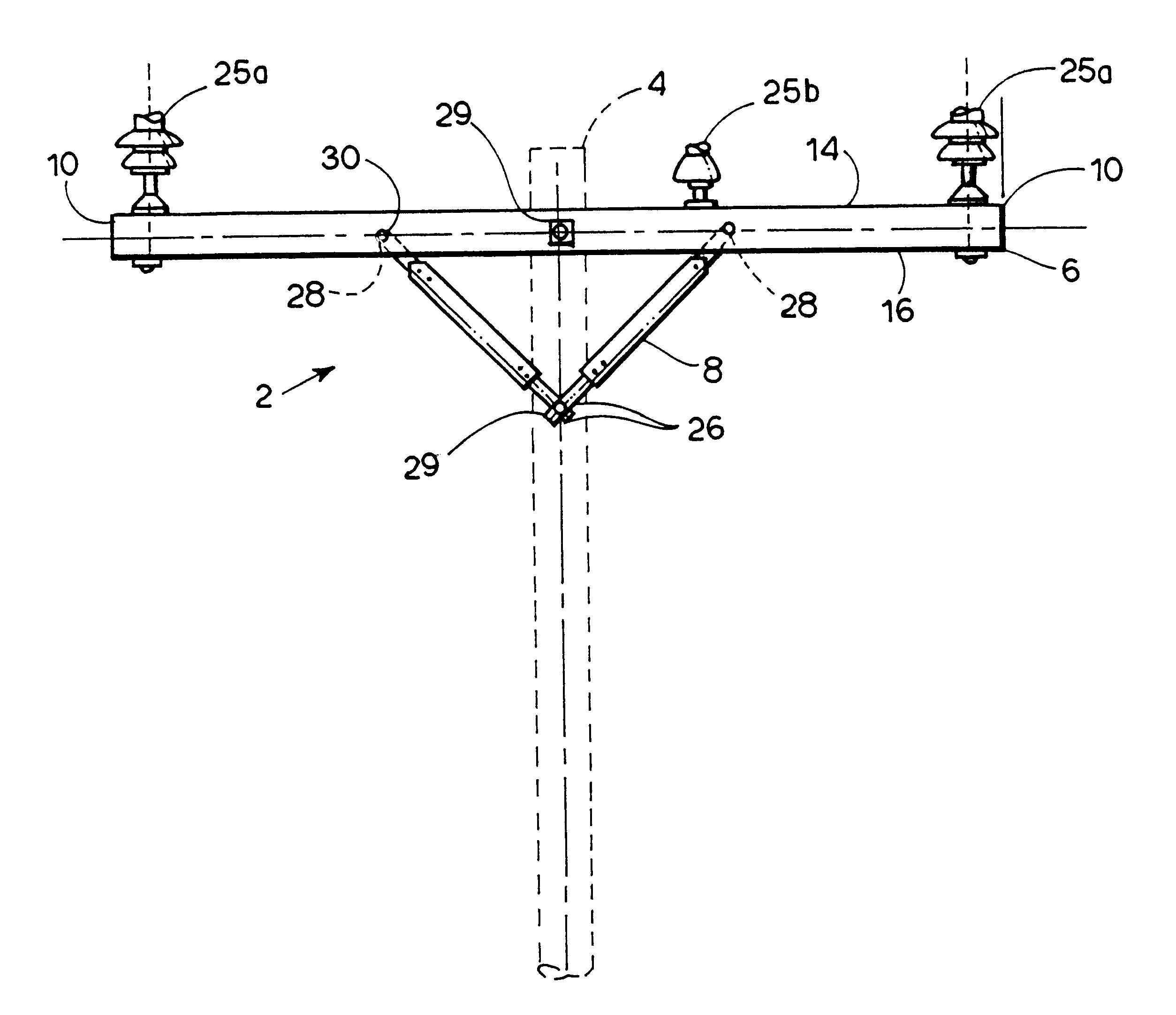 Utility Pole Cross Section Detail : Patent us utility pole crossarm