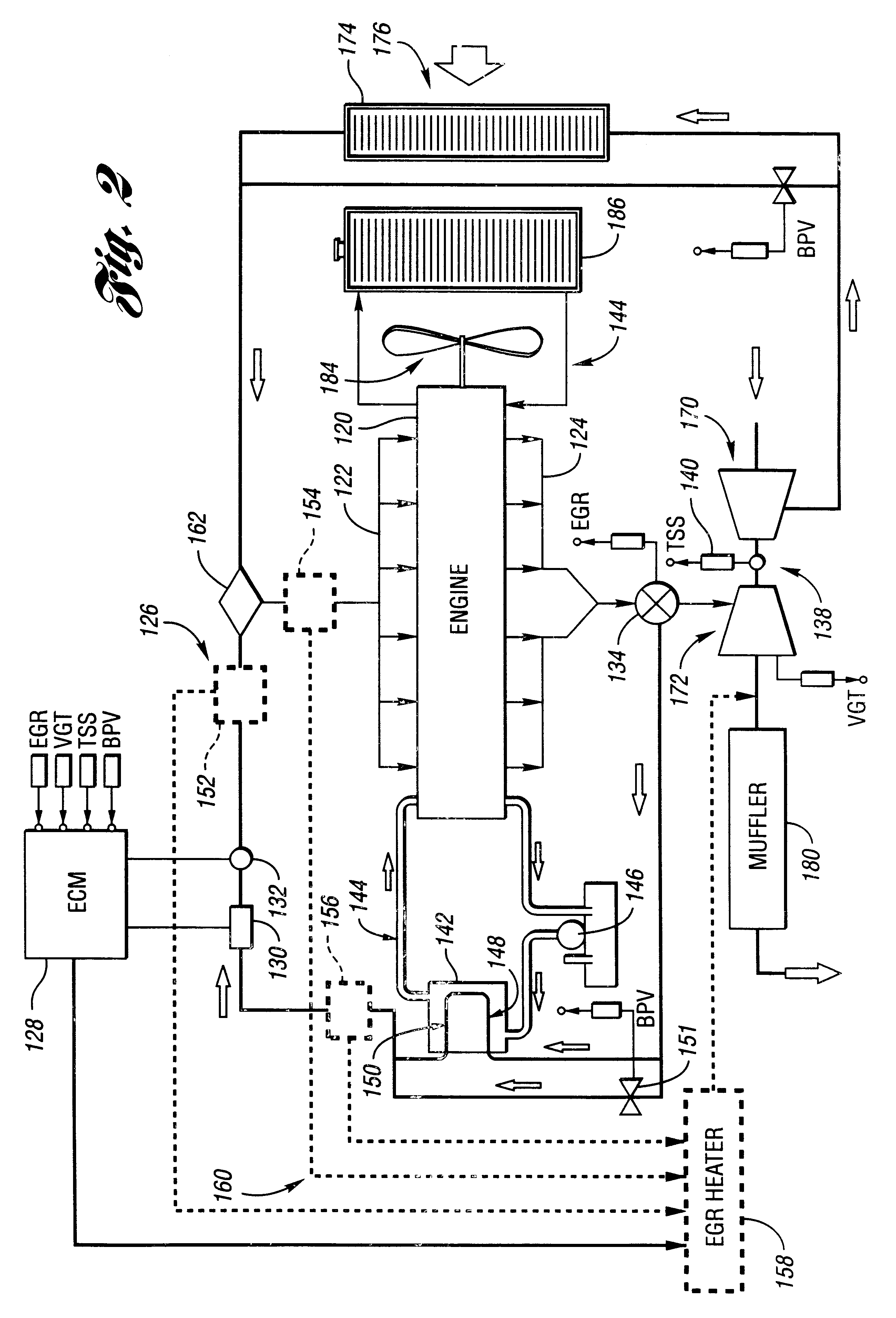 patent us6367256 exhaust gas recirculation condensation patent drawing