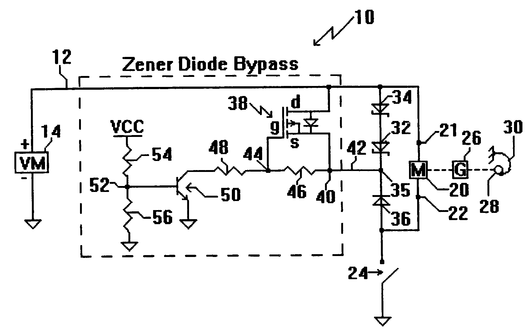 Circuit Diagram Zener Diode Patent Us6369540 Bypass For Use In Dc Brush Motor Control Drawing