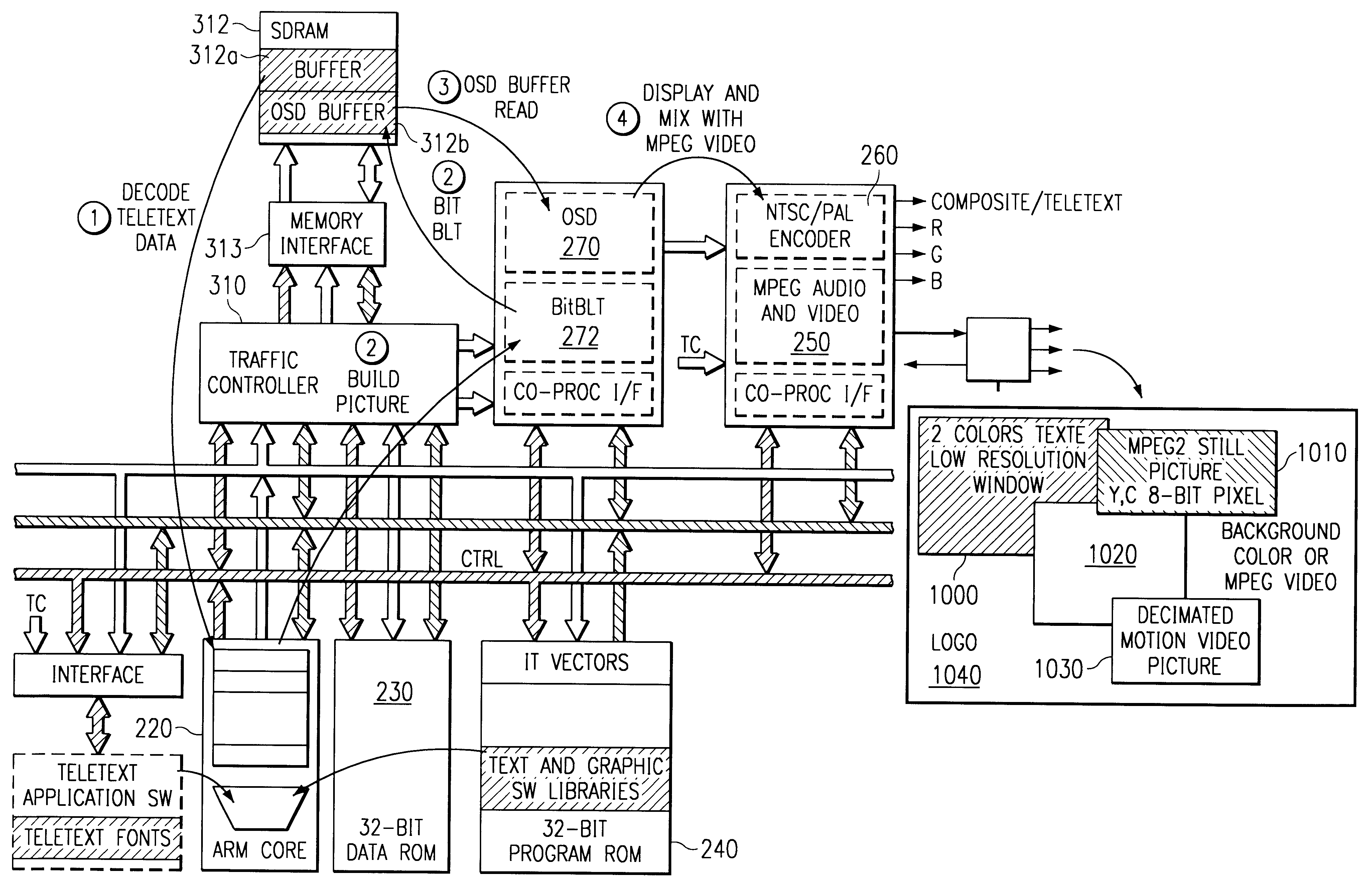 Patent Us6369855 Audio And Video Decoder Circuit System Vector Osd Wiring Diagram Drawing