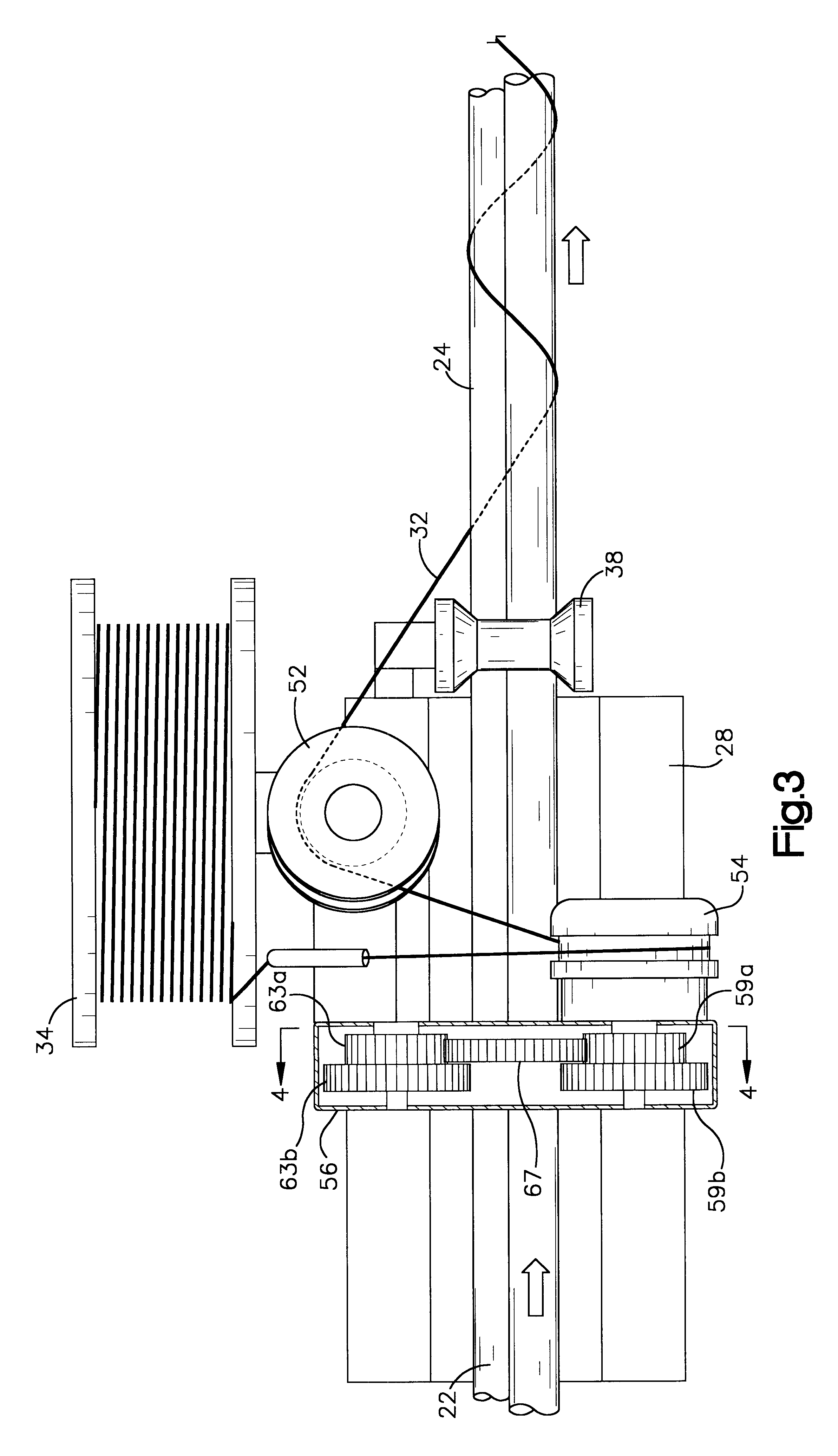 Apparatus And Method For Installing Cable : Patent us method and apparatus for wrapping