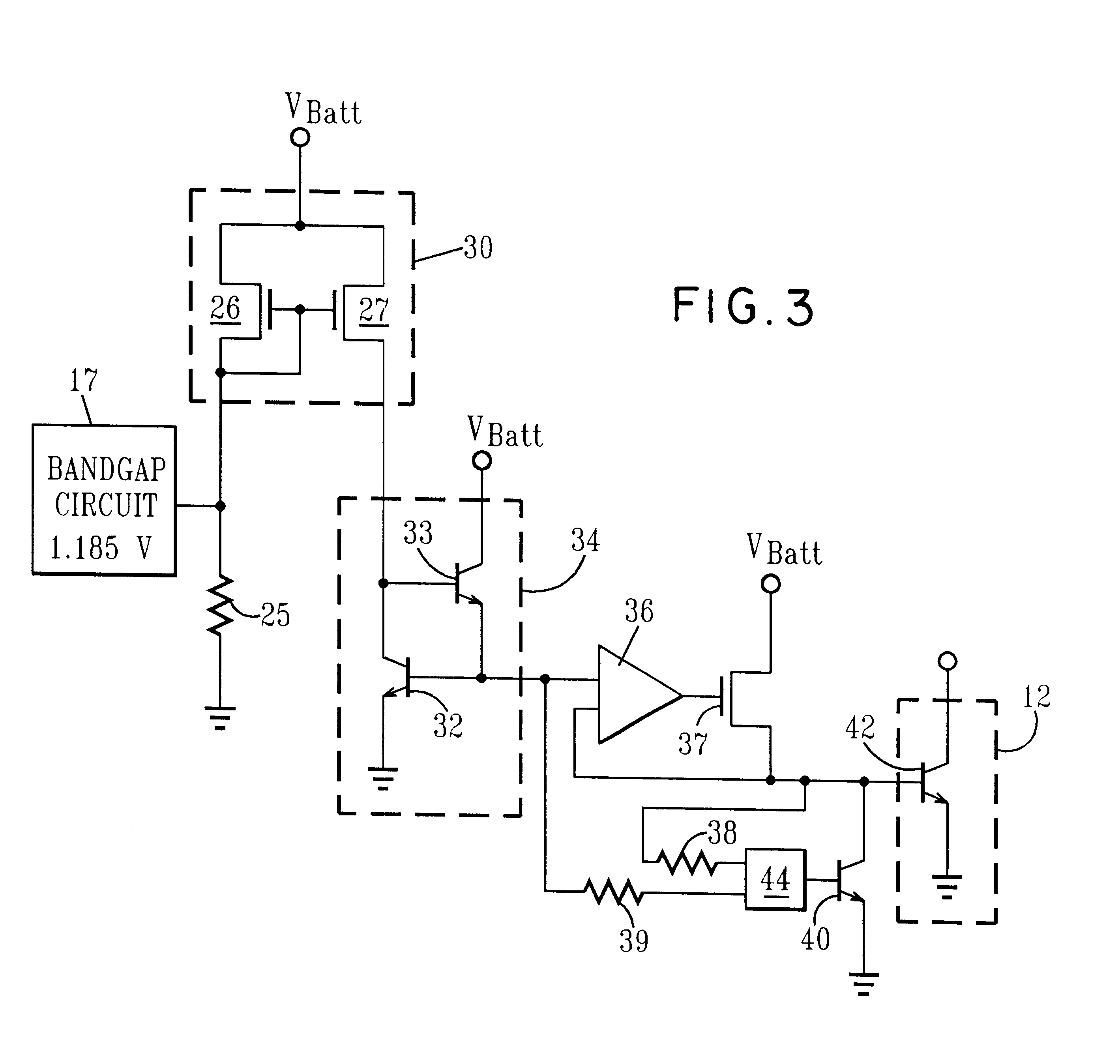 patent us6373339 - active bias network circuit for radio frequency amplifier