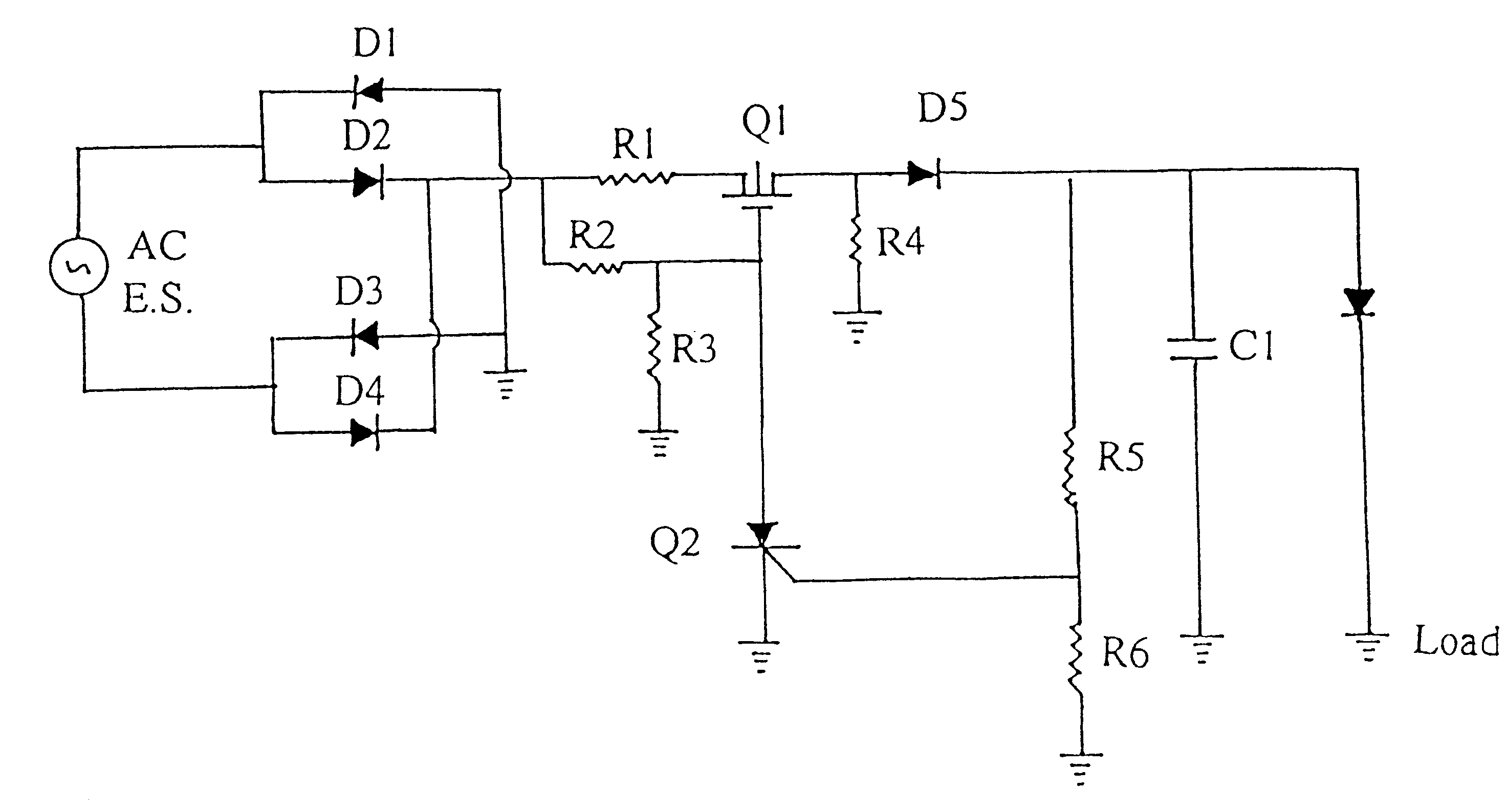 patent us6373733 - field effect transistor controlled ac  dc power conversion circuit