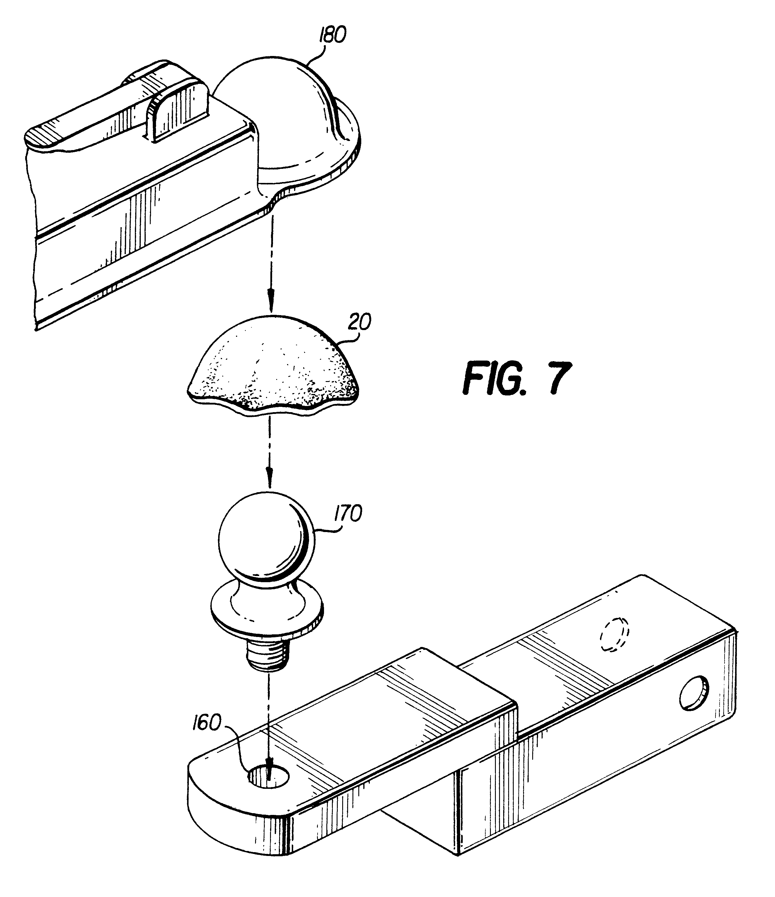 Patent Us6382656 Anti Rattle Device For A Trailer Hitch