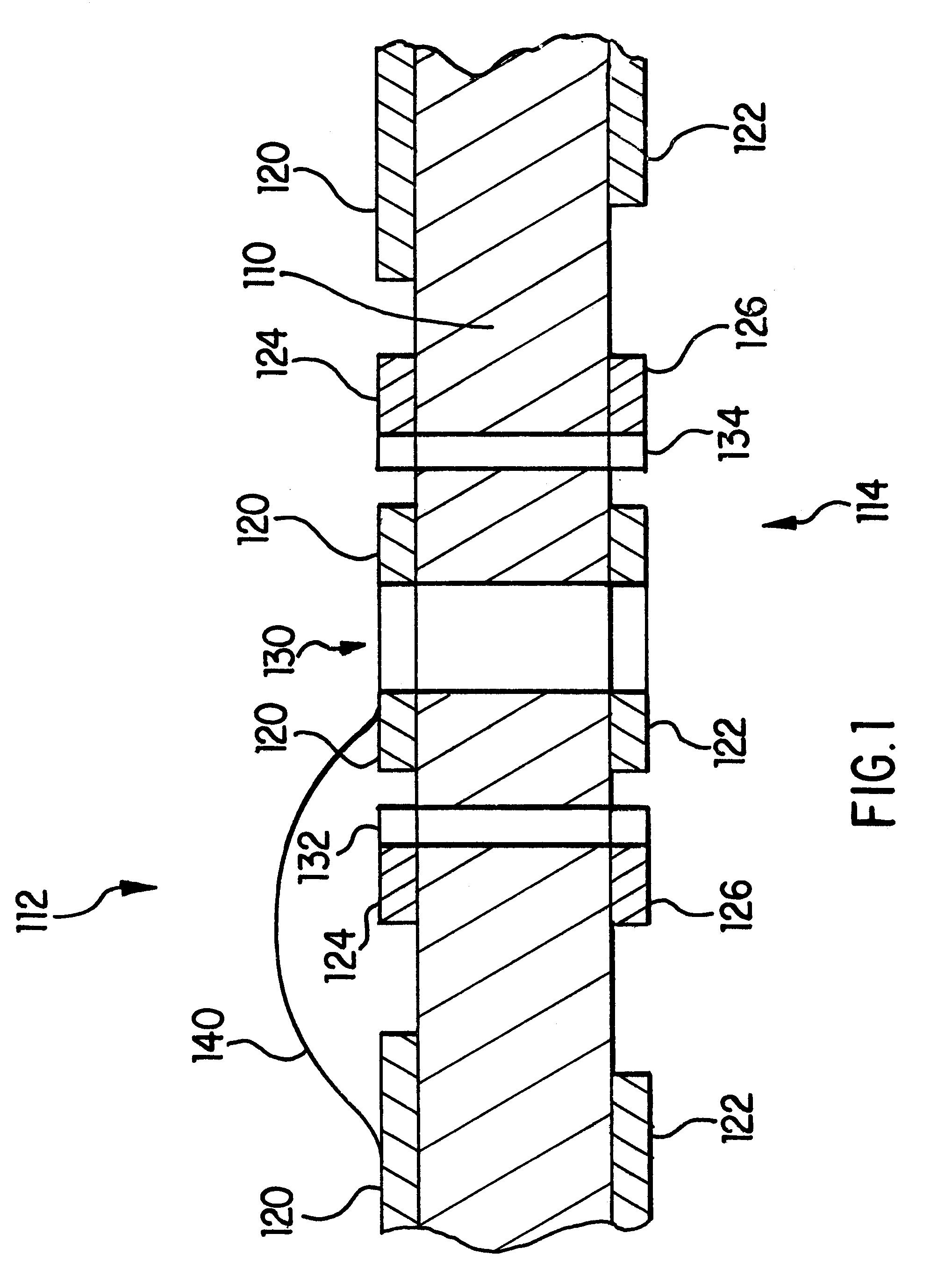 patent us6388206 - microcircuit shielded  controlled impedance  u201cgatling gun u201dvia