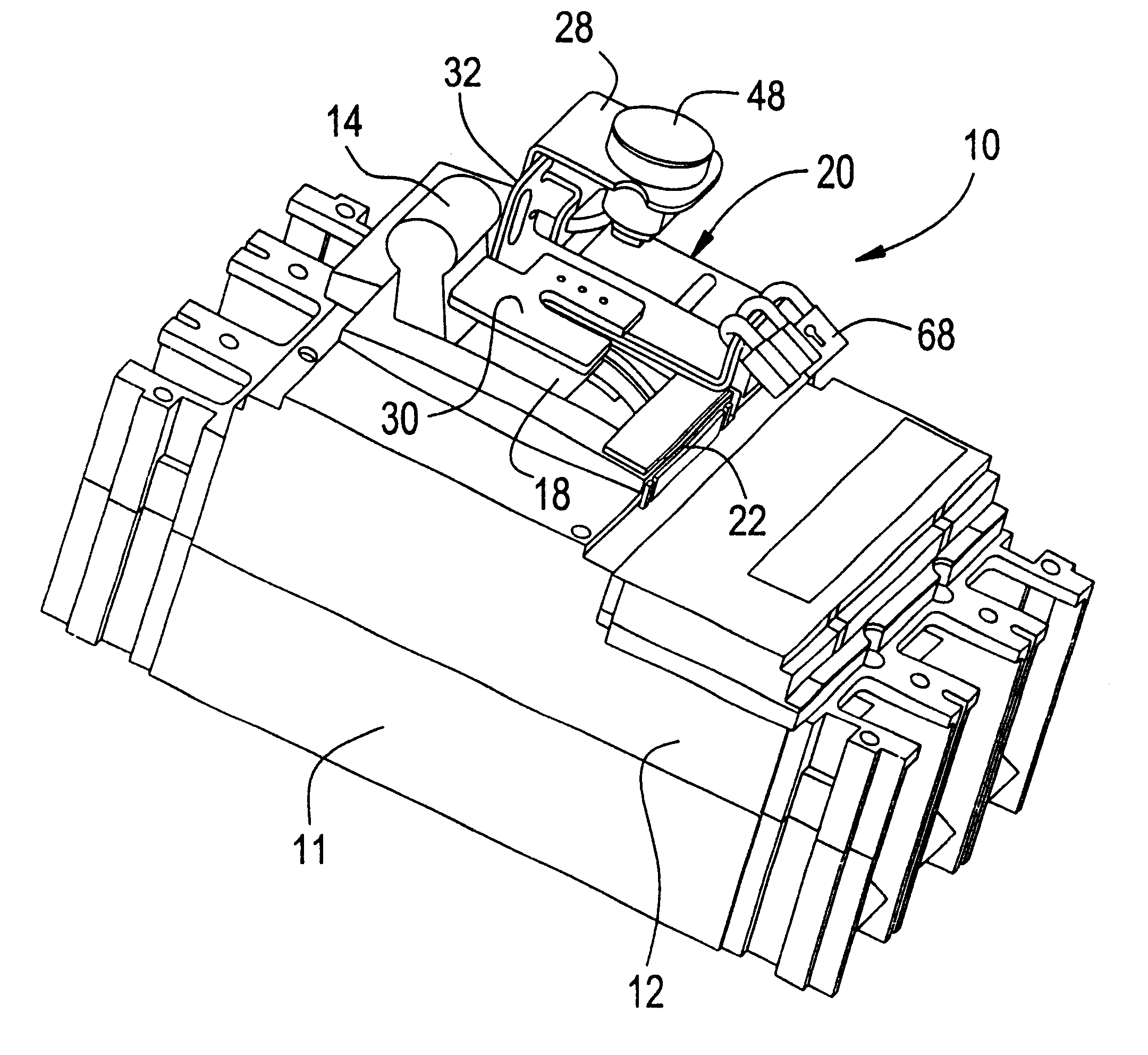 patent us6388213 - locking device for molded case circuit breakers