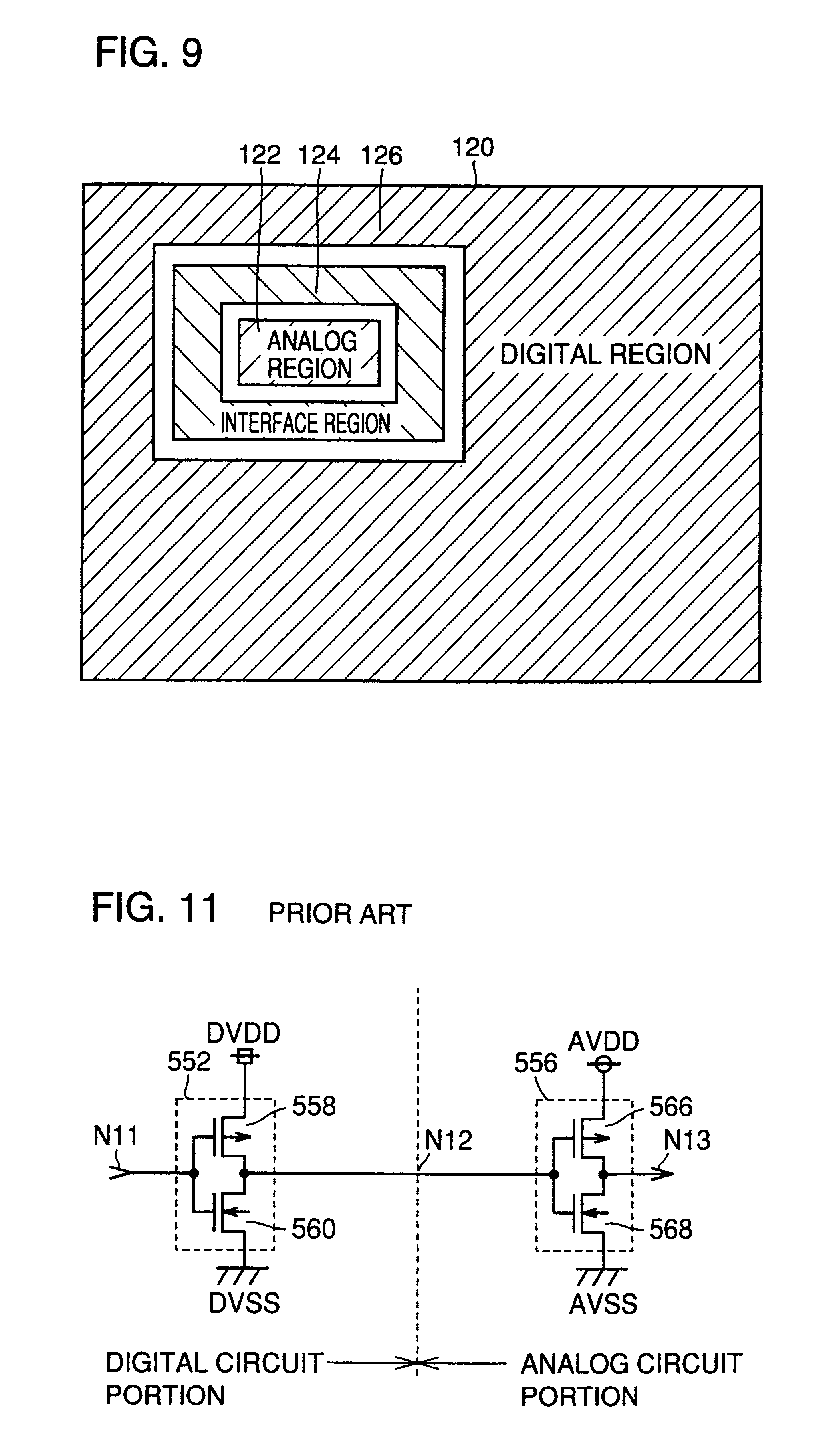 Patent Us6388498 Semiconductor Device Capable Of Reducing Noise Analog Vs Digital Circuit Drawing