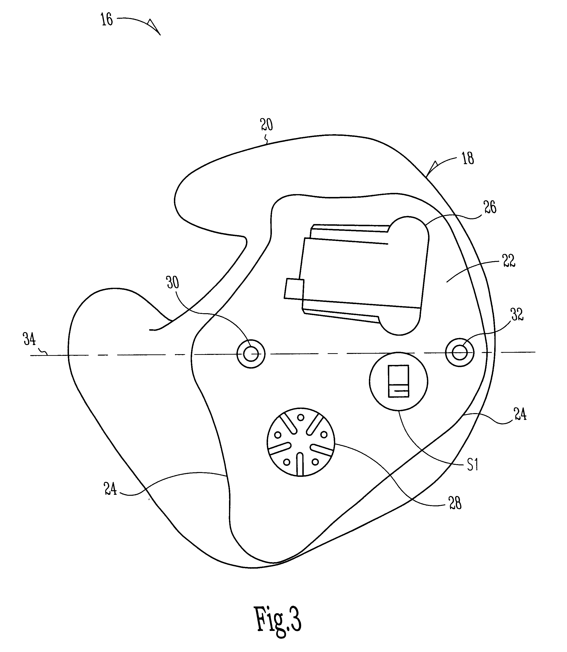 patent us6389142 - in-the-ear hearing aid with directional microphone system