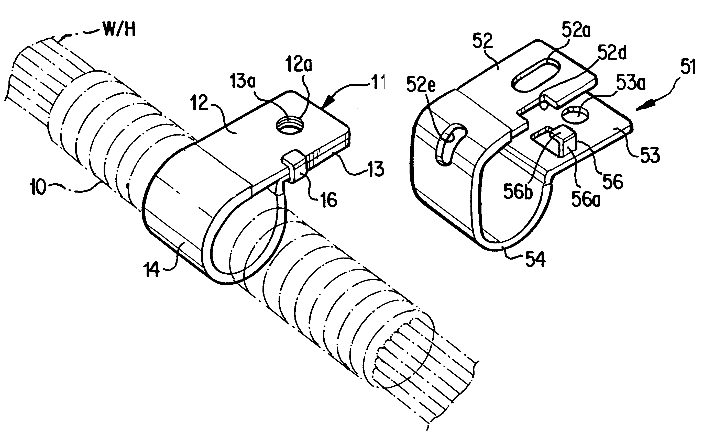 patent us6398170 - wire harness fixing clip