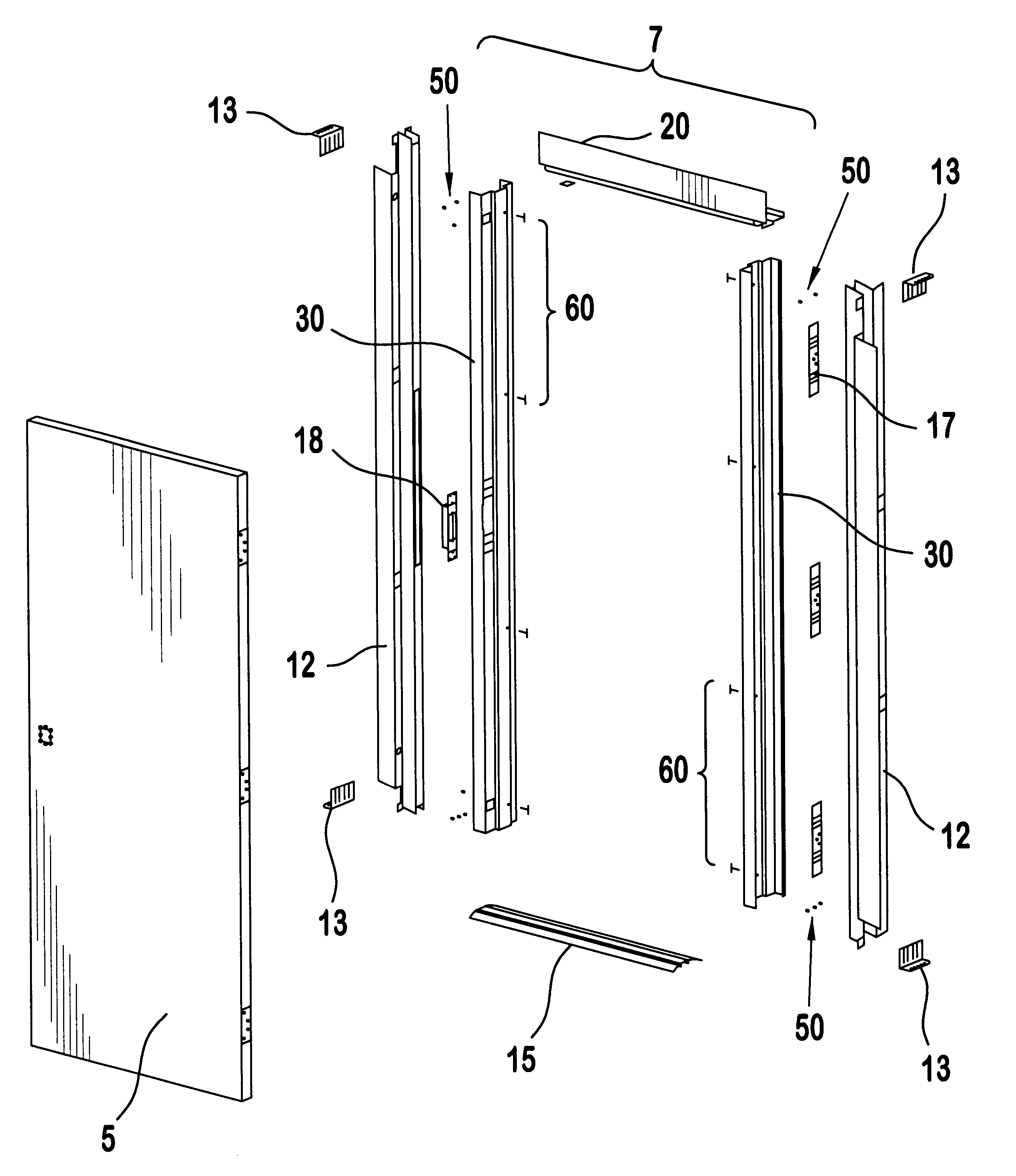 Patent us6405506 door frame for metal buildings google for Exterior door components