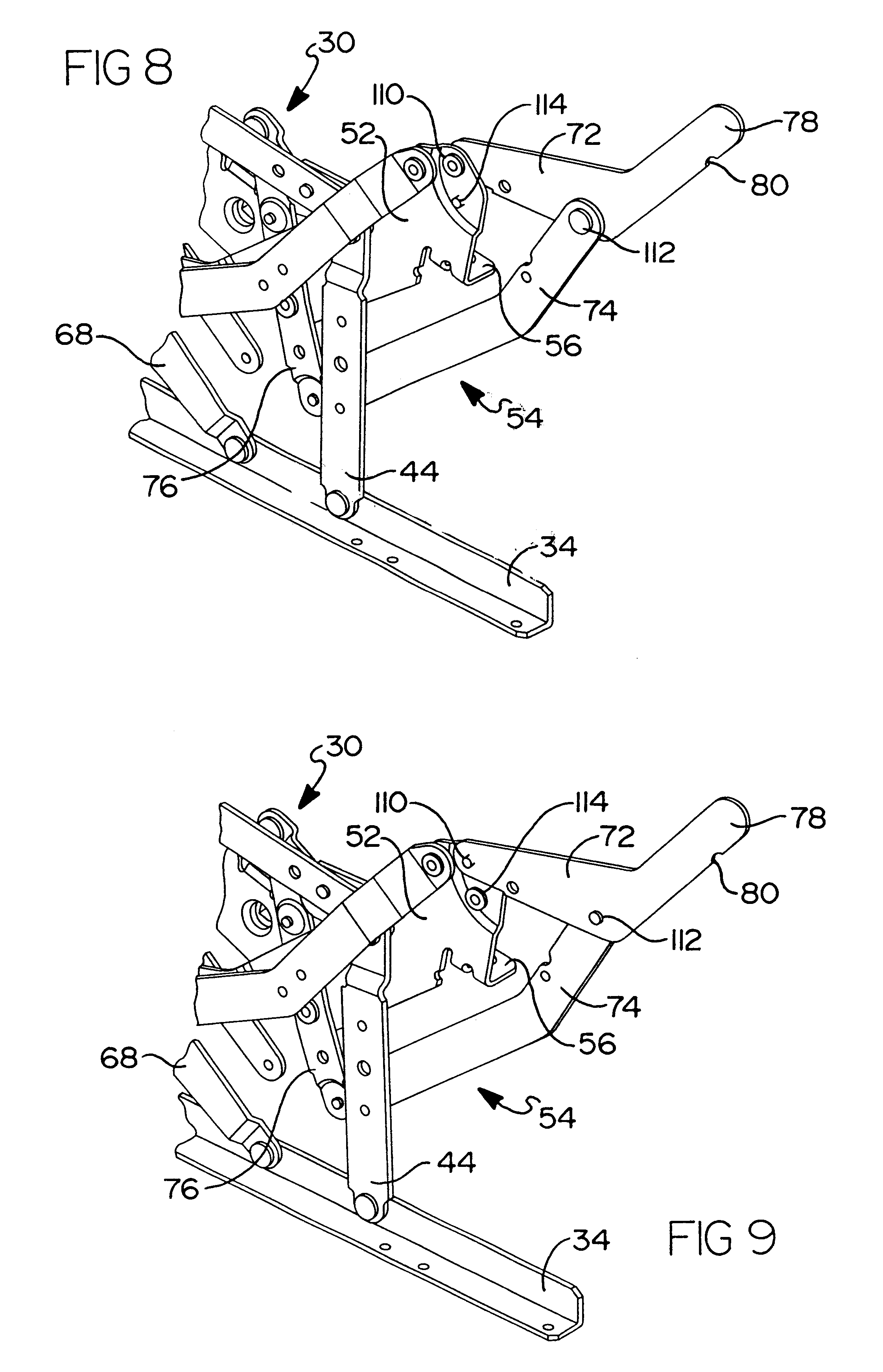 Patent Us6409262 All Linkage Reclining Chair With