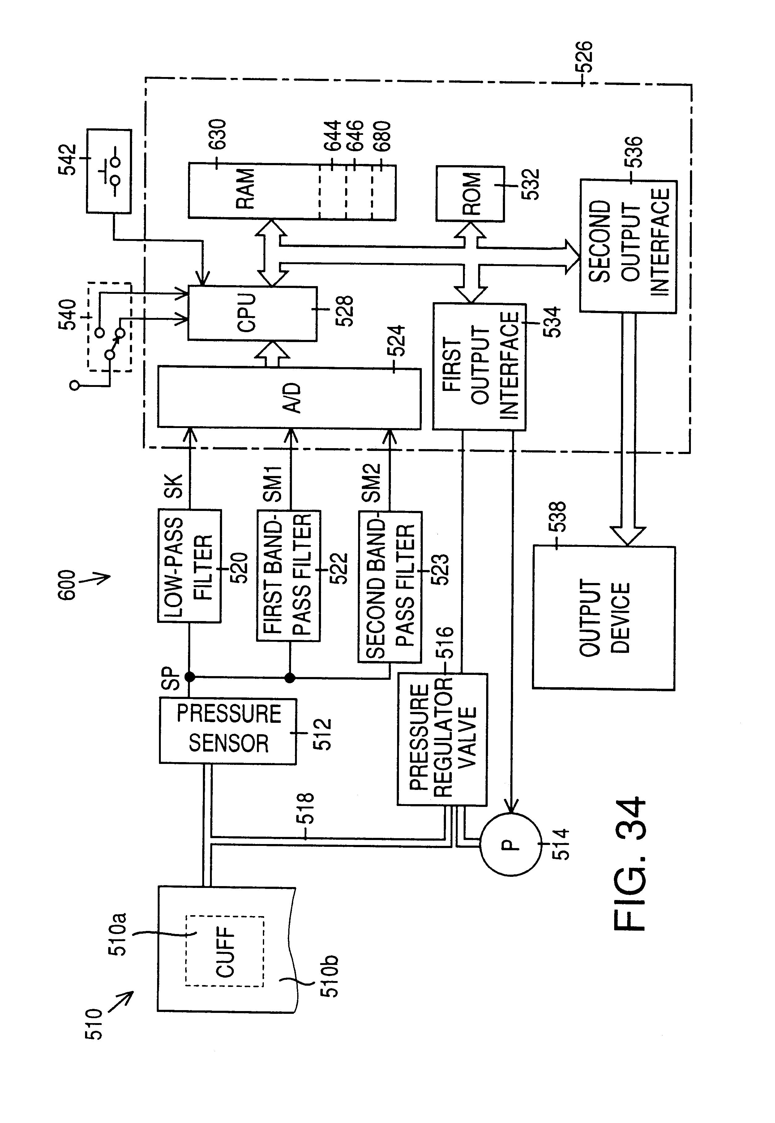 Patent Us6413224 Blood Pressure Measuring Apparatus Google Open Circuit Arm Detector Ocad Drawing