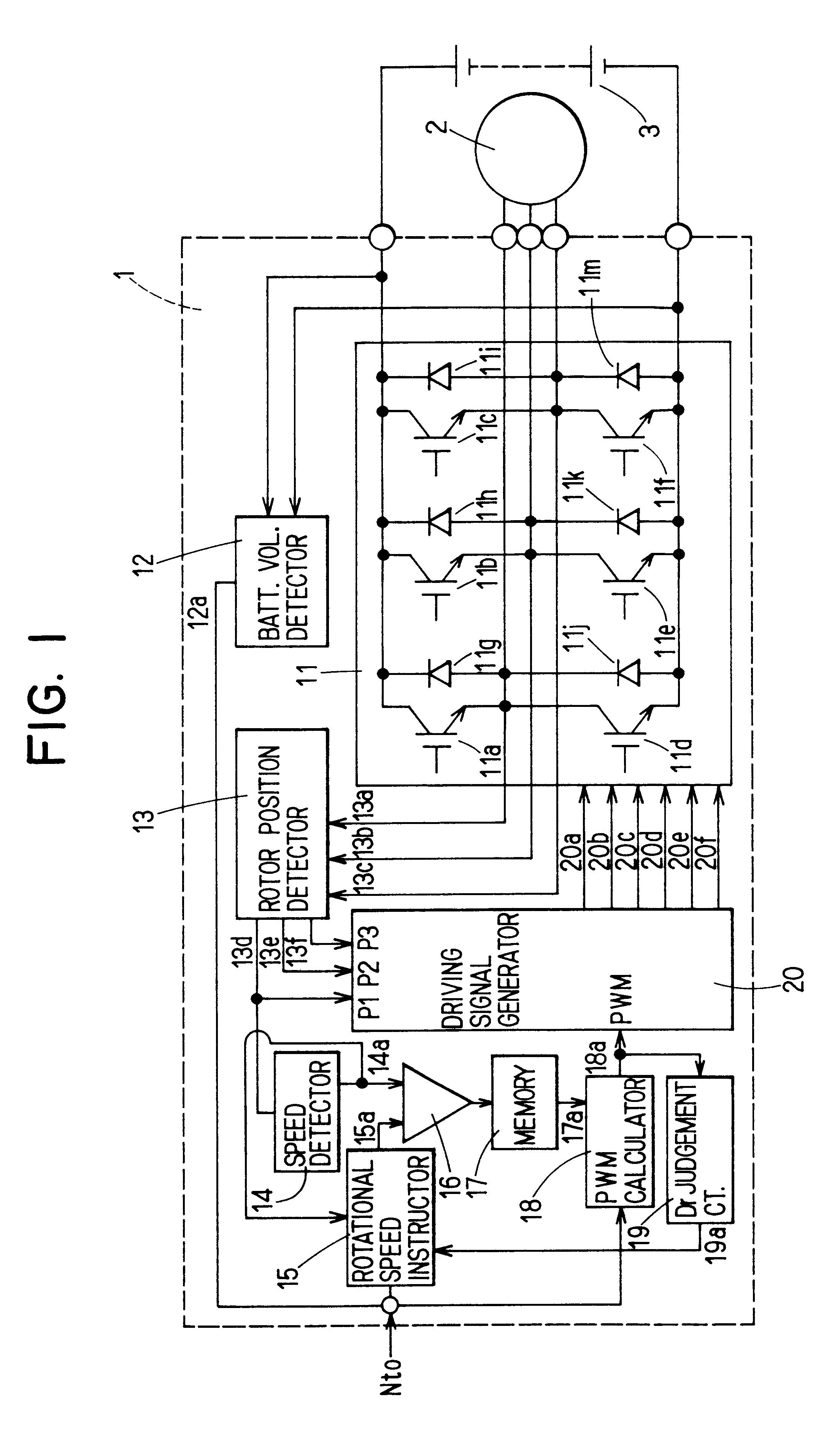 Patent Us6424798 Device For Controlling Sensorless Brushless Dc 2006 Subaru Impreza Fuse Box Drawing