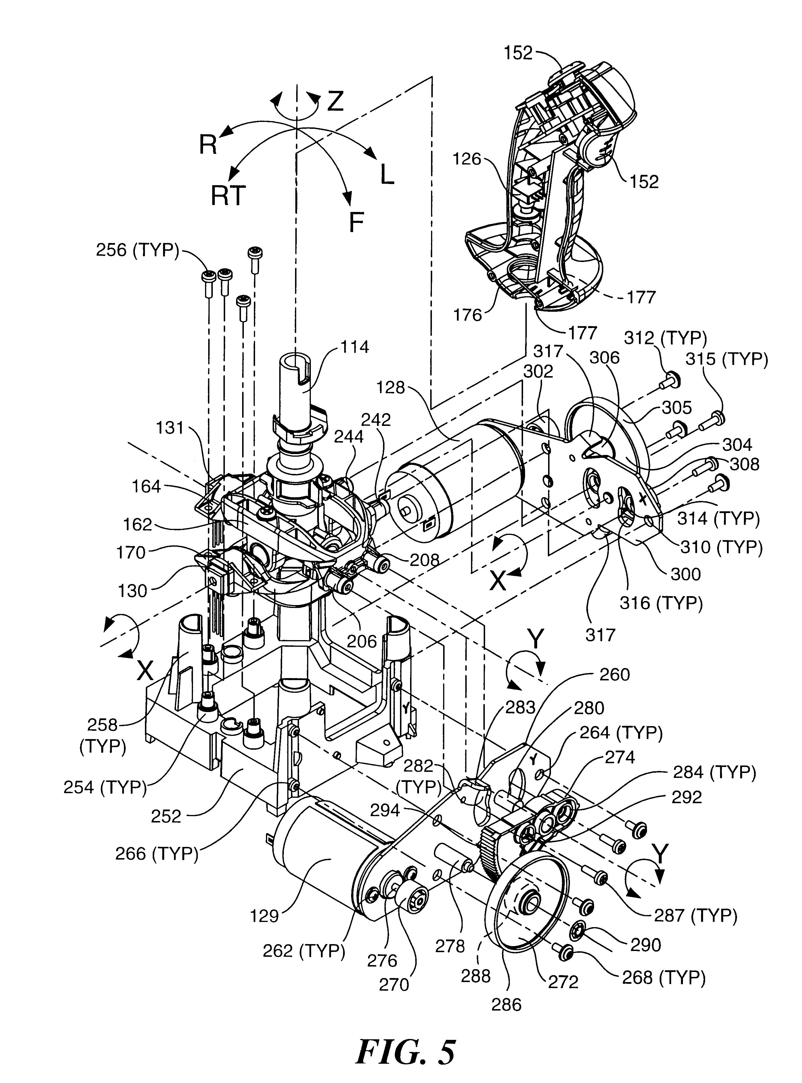 patent us6429849 - haptic feedback joystick