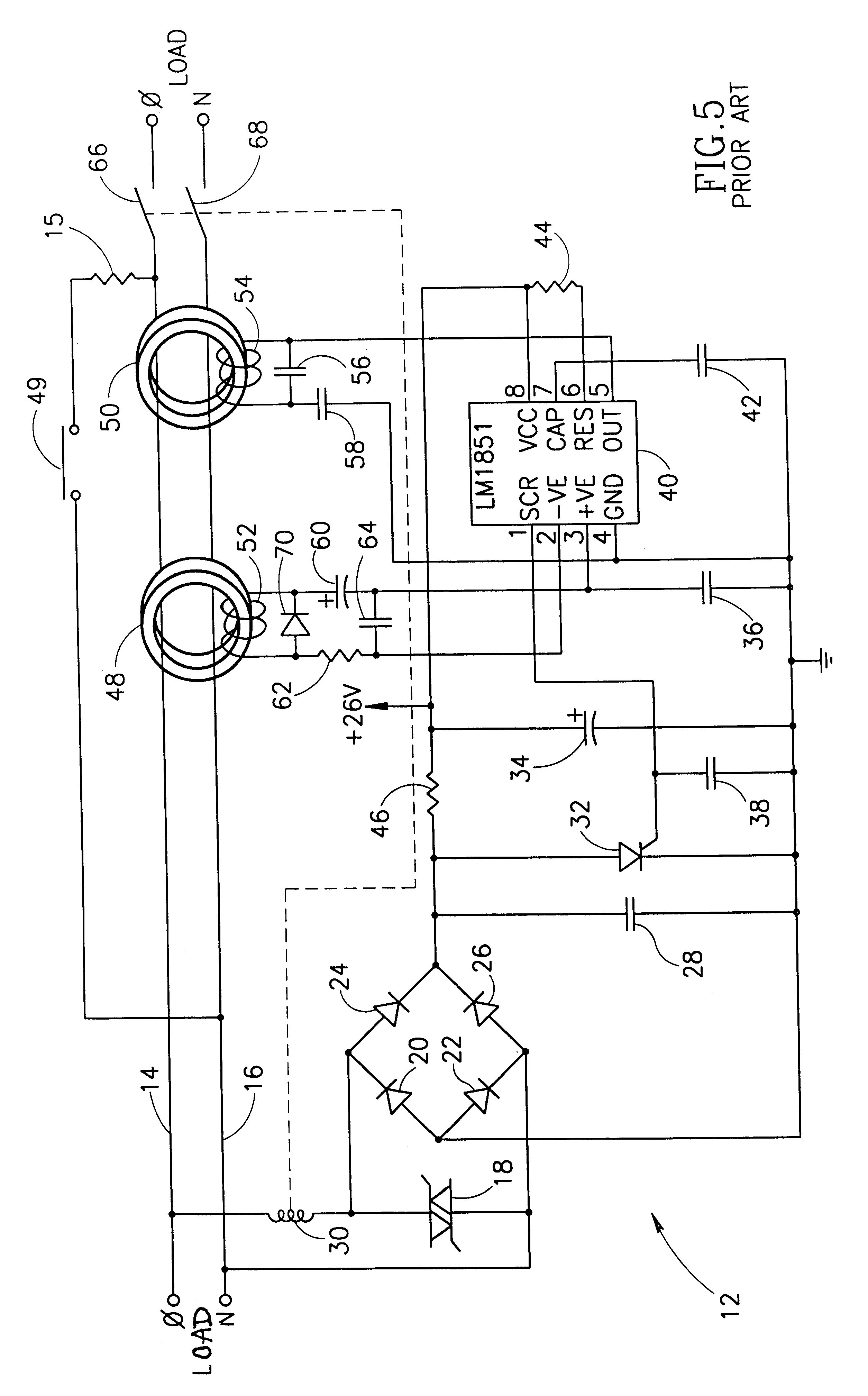 Patent Us6433978 Arc Fault Detector With Circuit Interrupter Arcfault Breakers Prevent Fires Absolute Electric Drawing