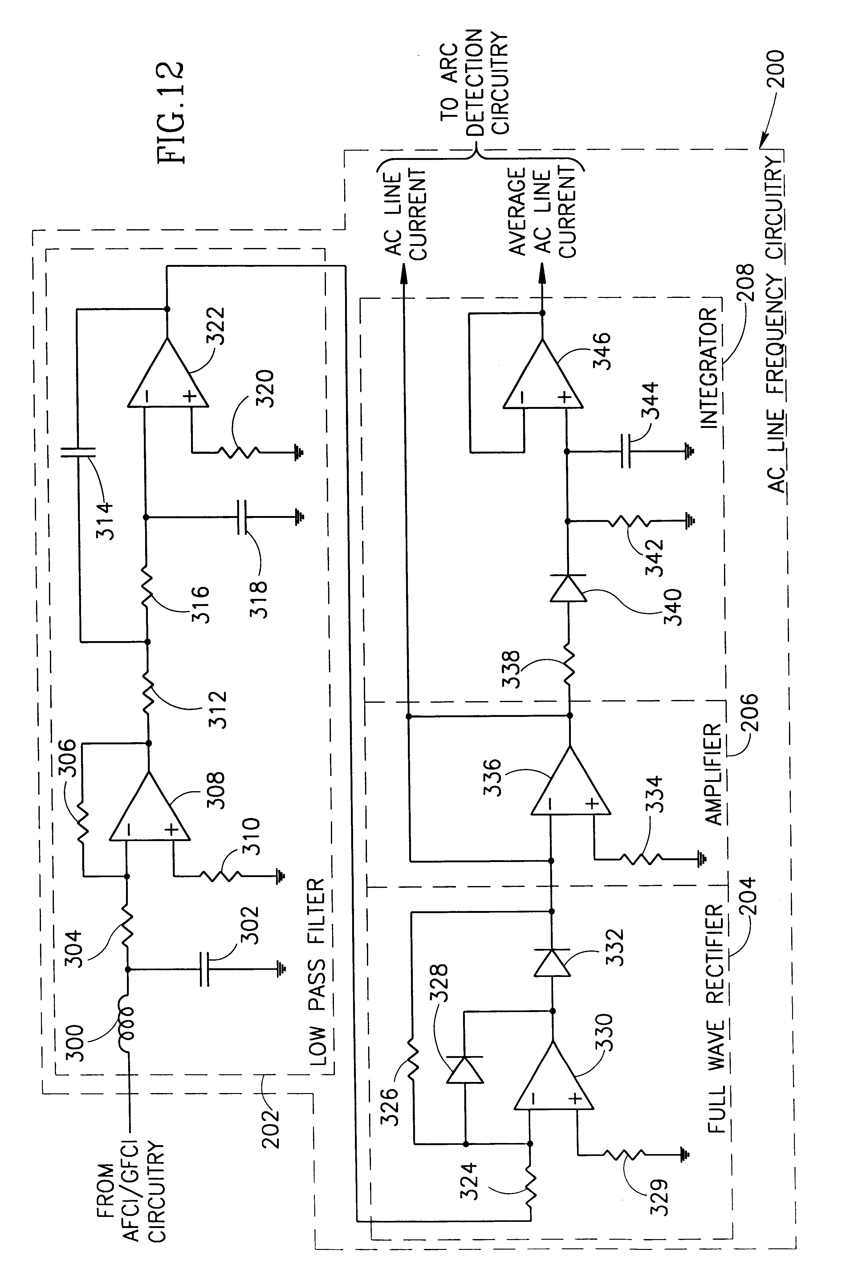 Patent Us6433978 Arc Fault Detector With Circuit Interrupter Ac Line Powered Led Pilot Light Circuits Designed By David Drawing